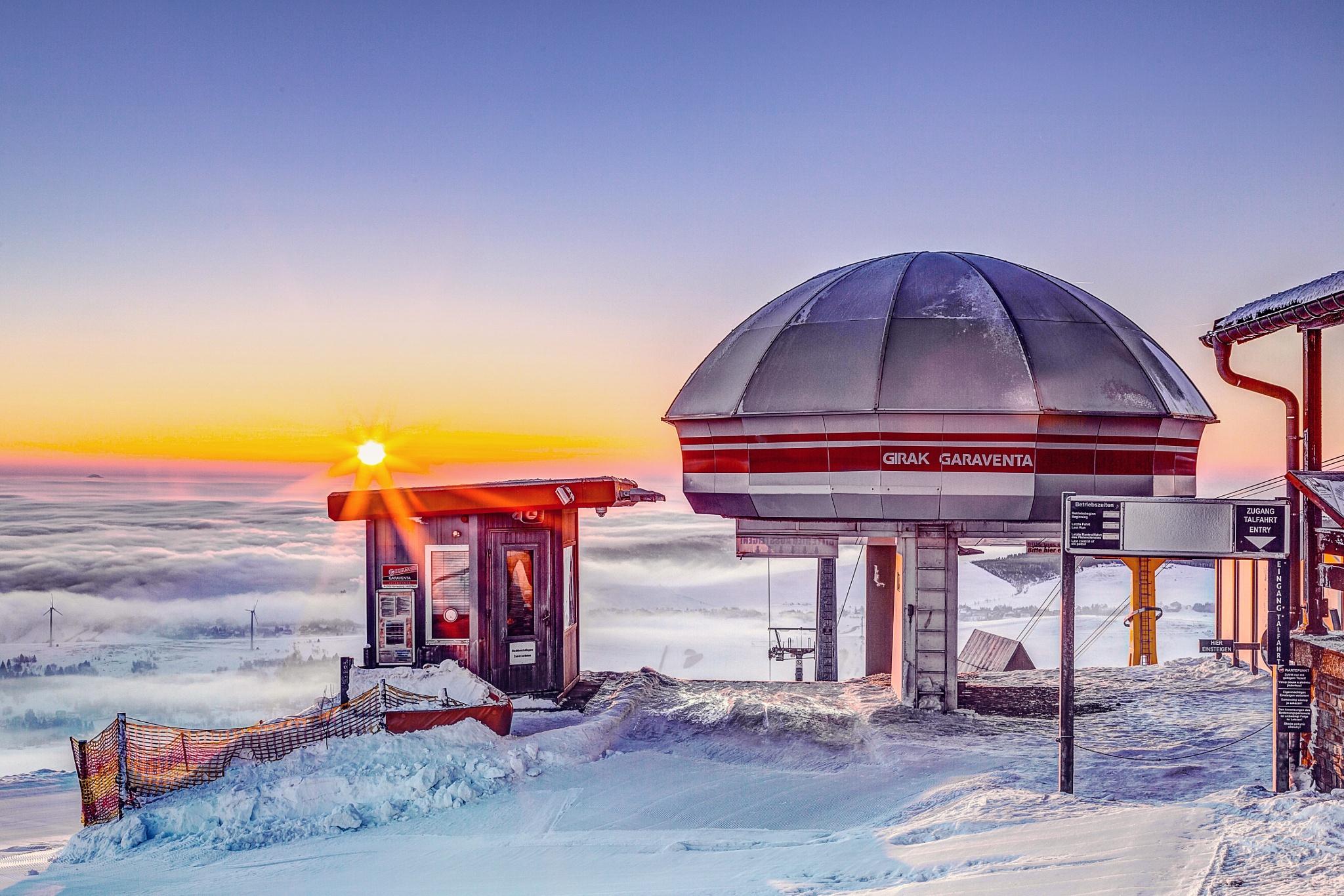 Photo in HDRI #station #erzgebirge #winter