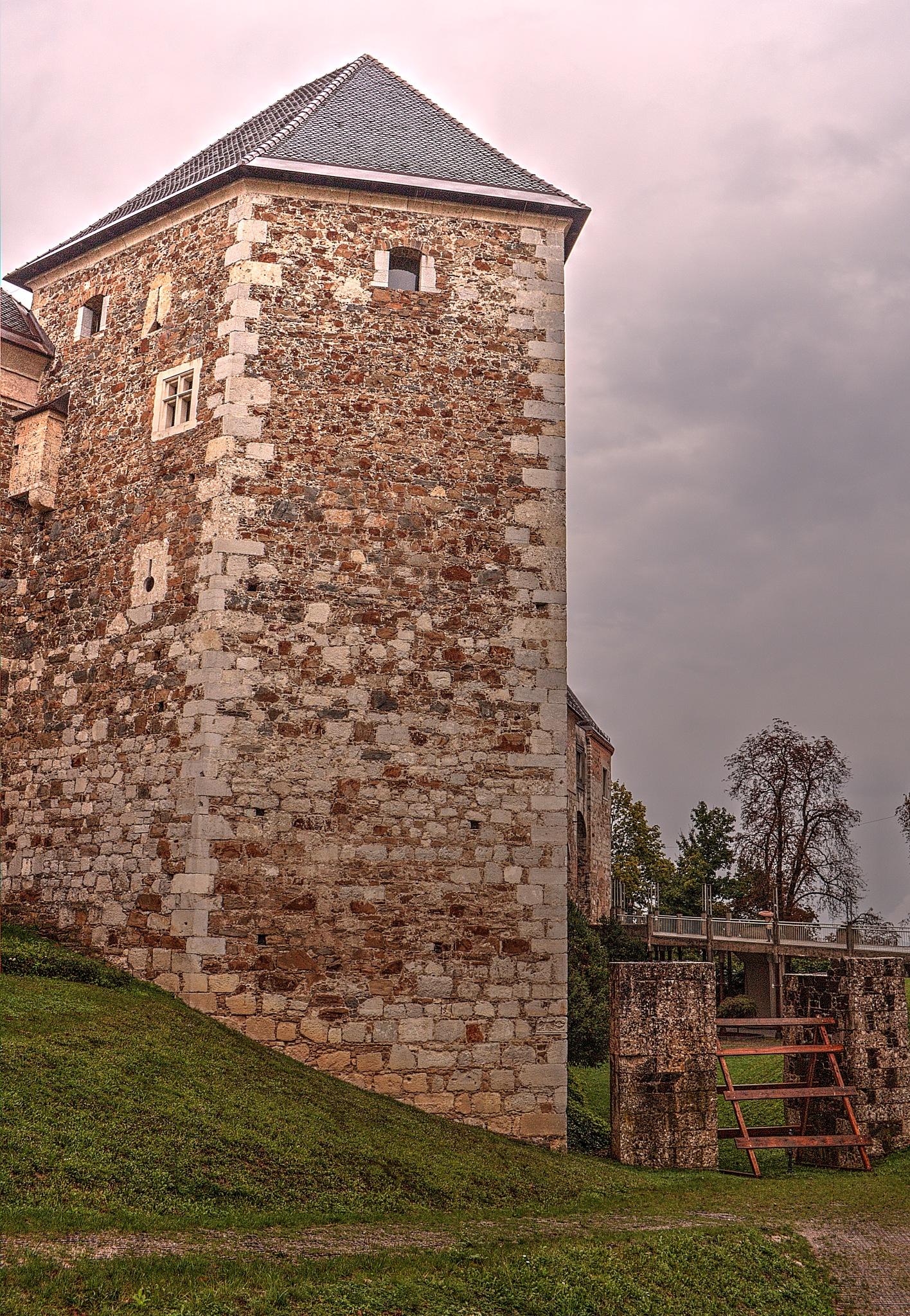 View of Ljubljana Castle, rainy day. by zvnktomasevic