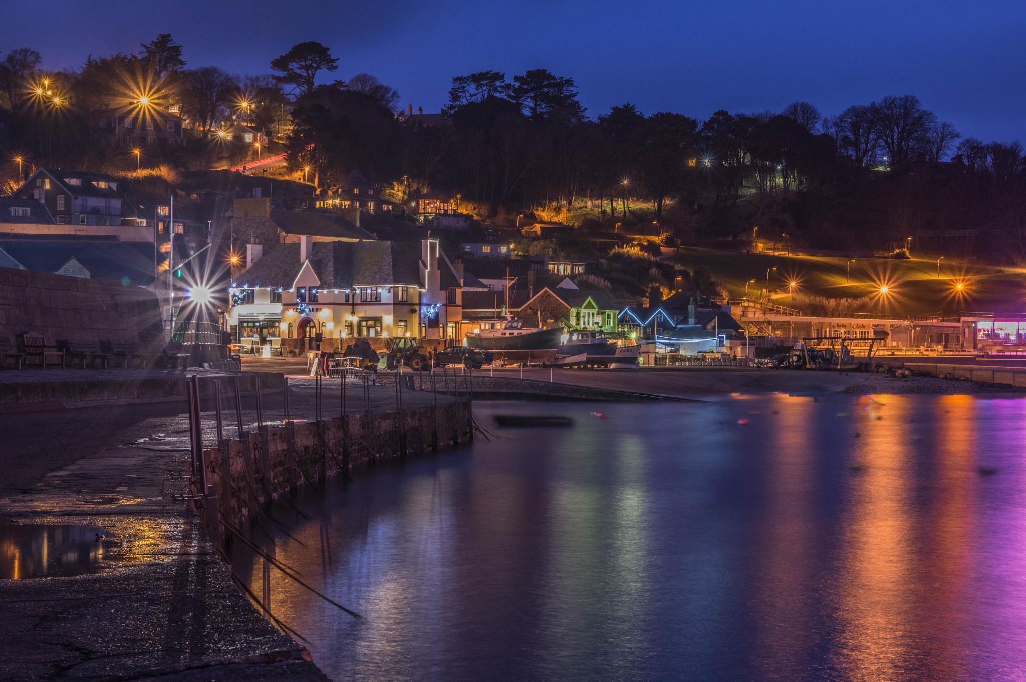 Night at Lyme Regis by Paul Newman