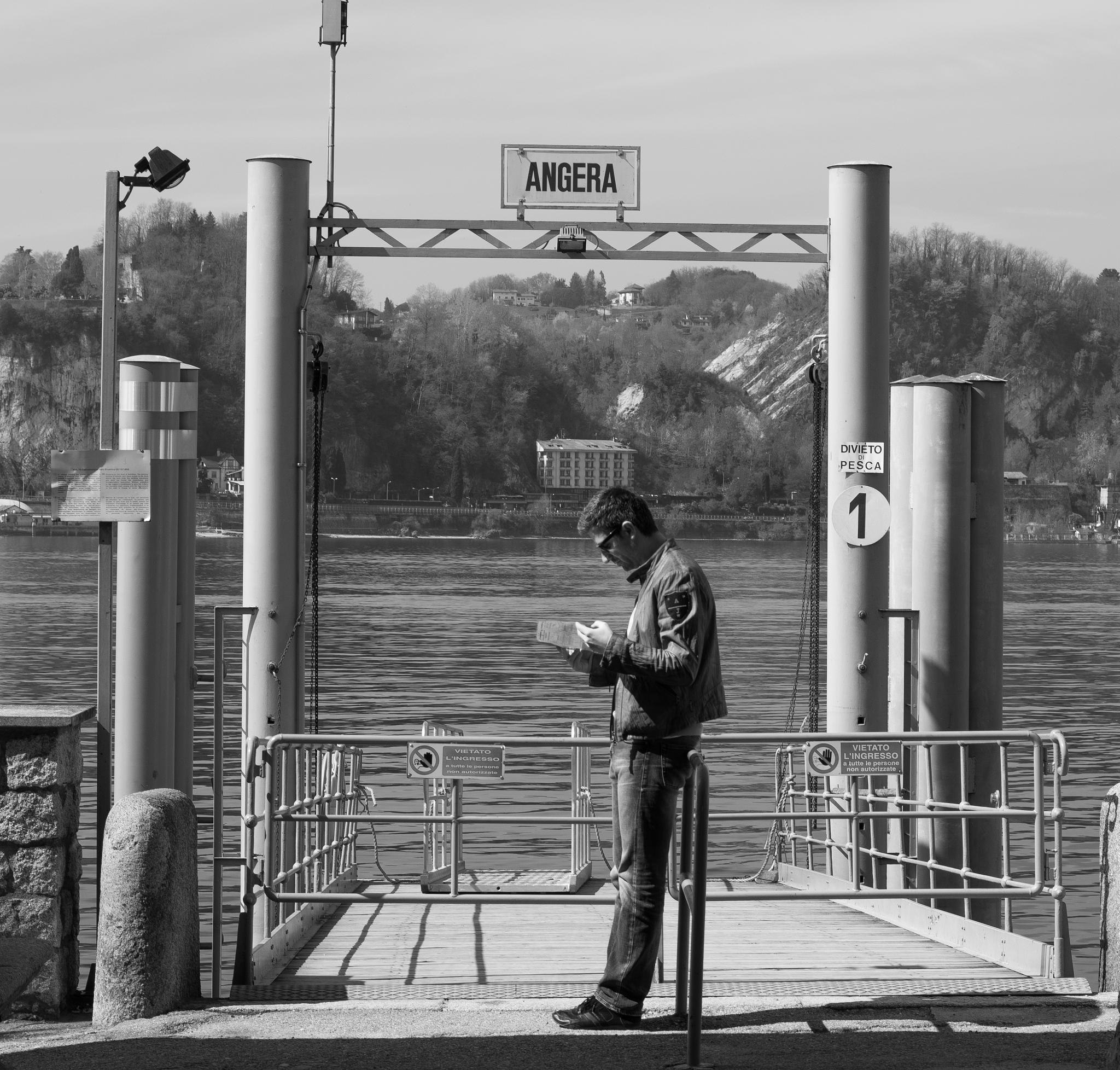 Awaiting the ferry by Paul Newman