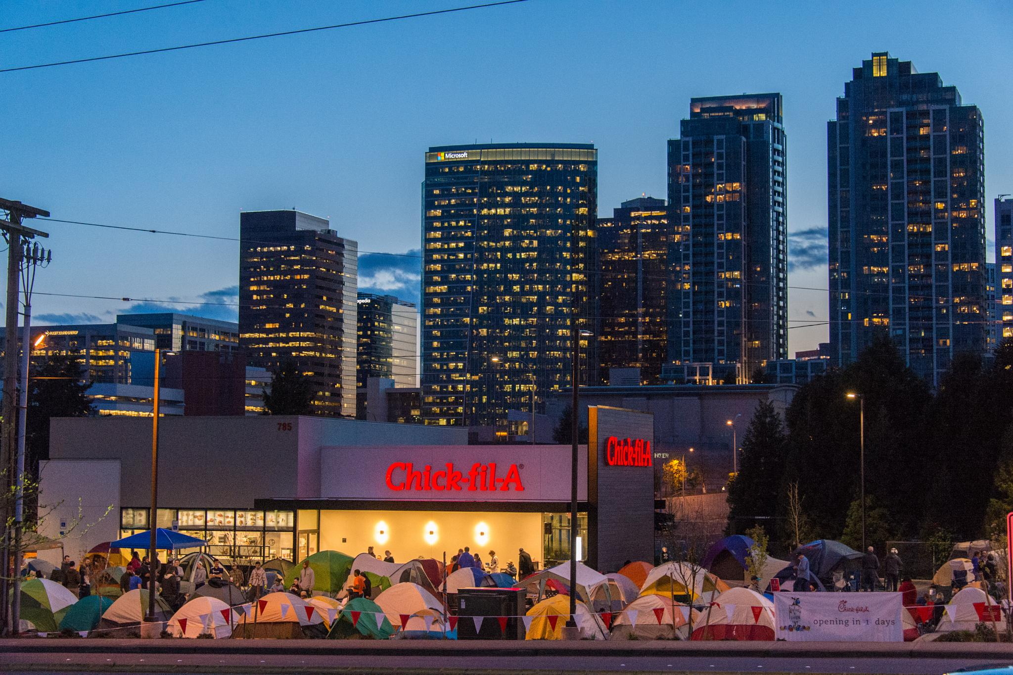 Grand opening for Chick-fil-A in Bellevue, WA by stanley.leary
