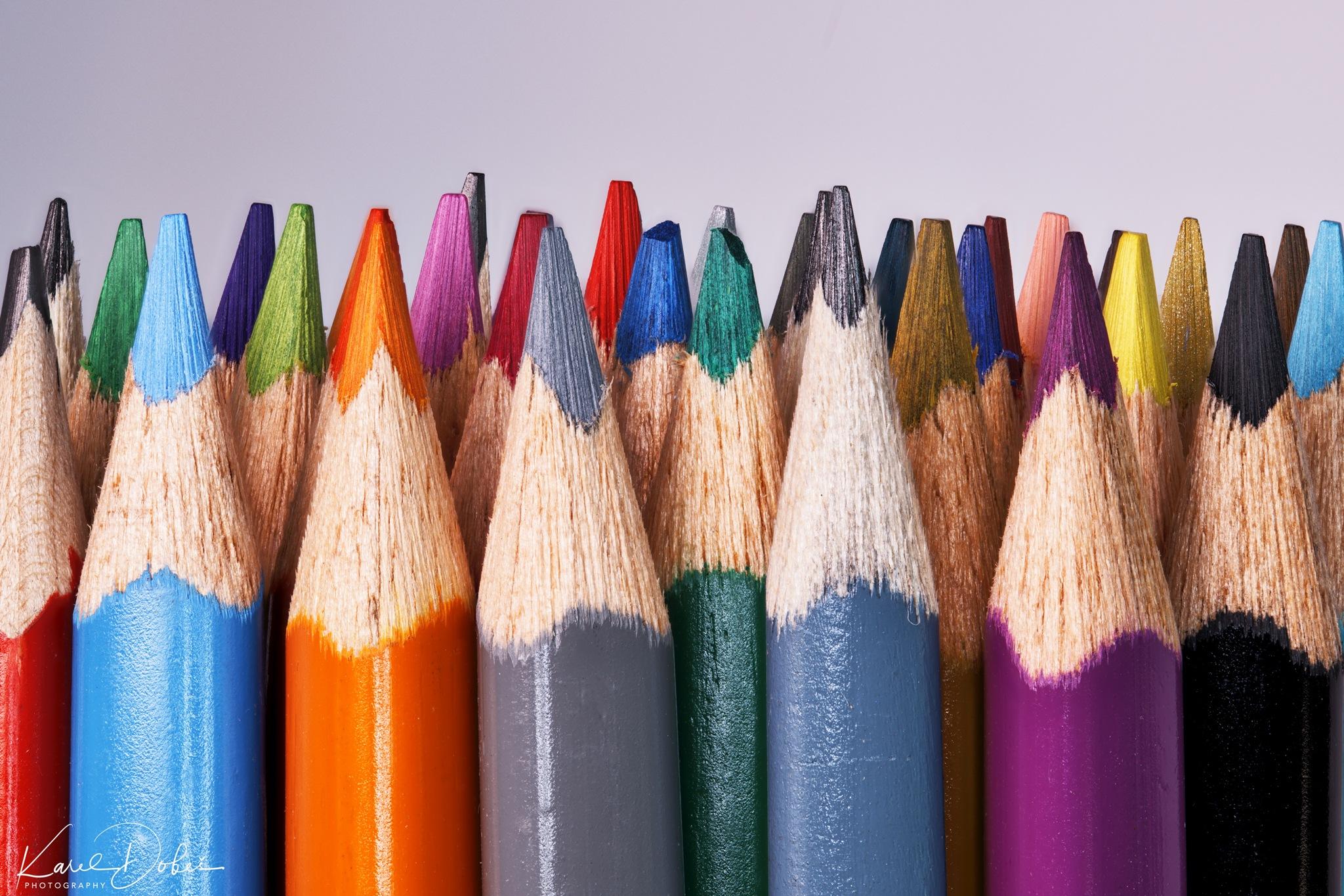 crayons... by Karel Dobes