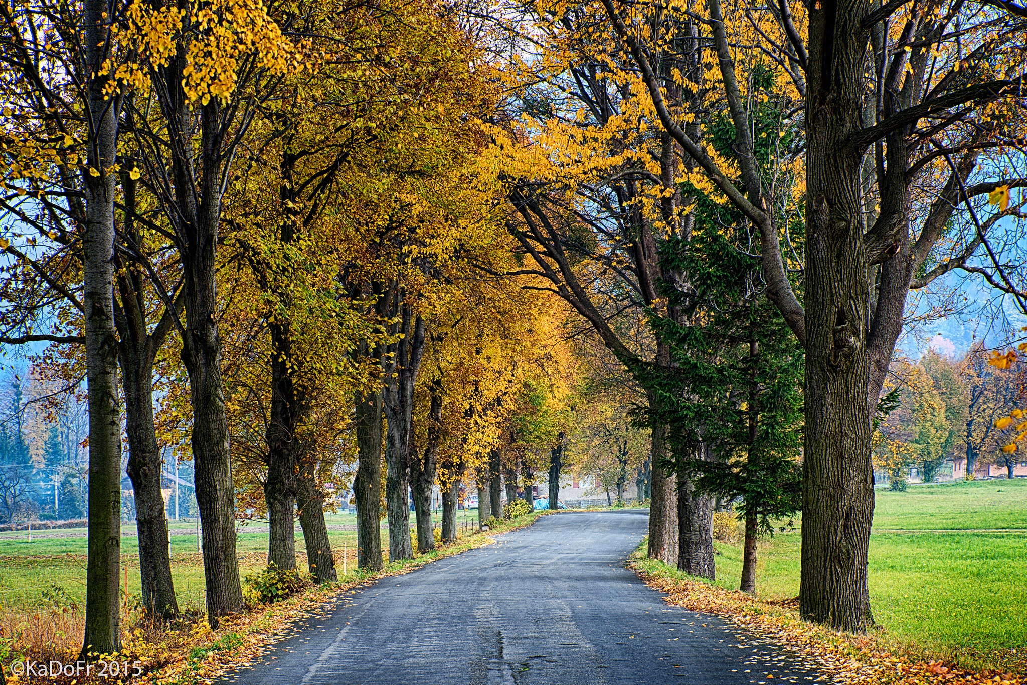 autumn in the mountains Beskids - Trojanovice by Karel Dobes