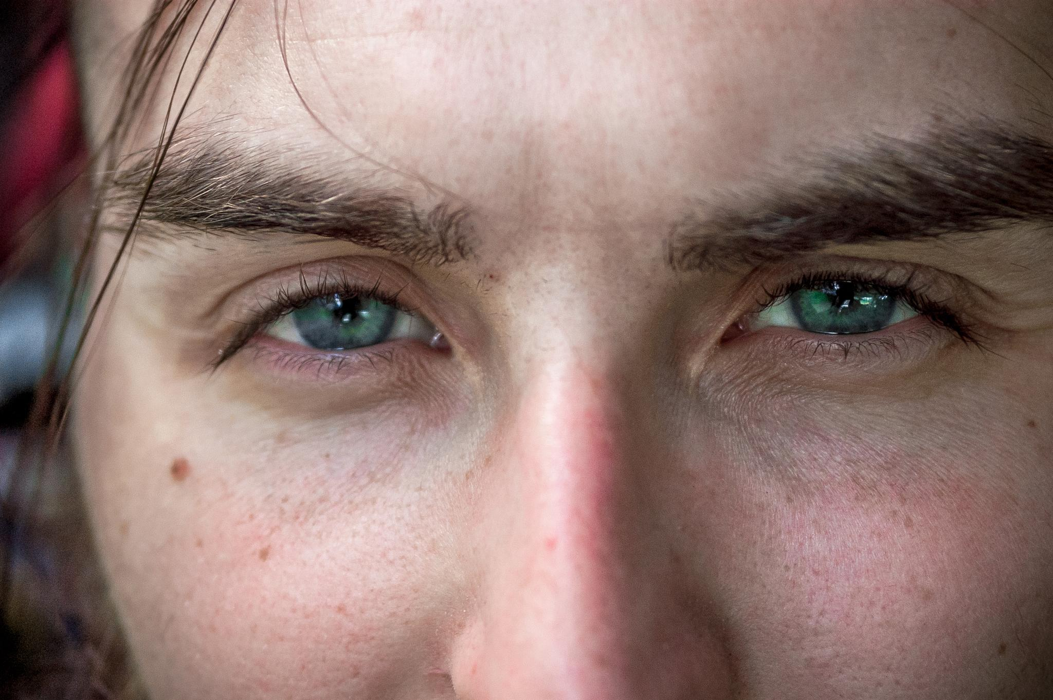 Photo in People #davidfranklin #eyes #macro #close up #face #model