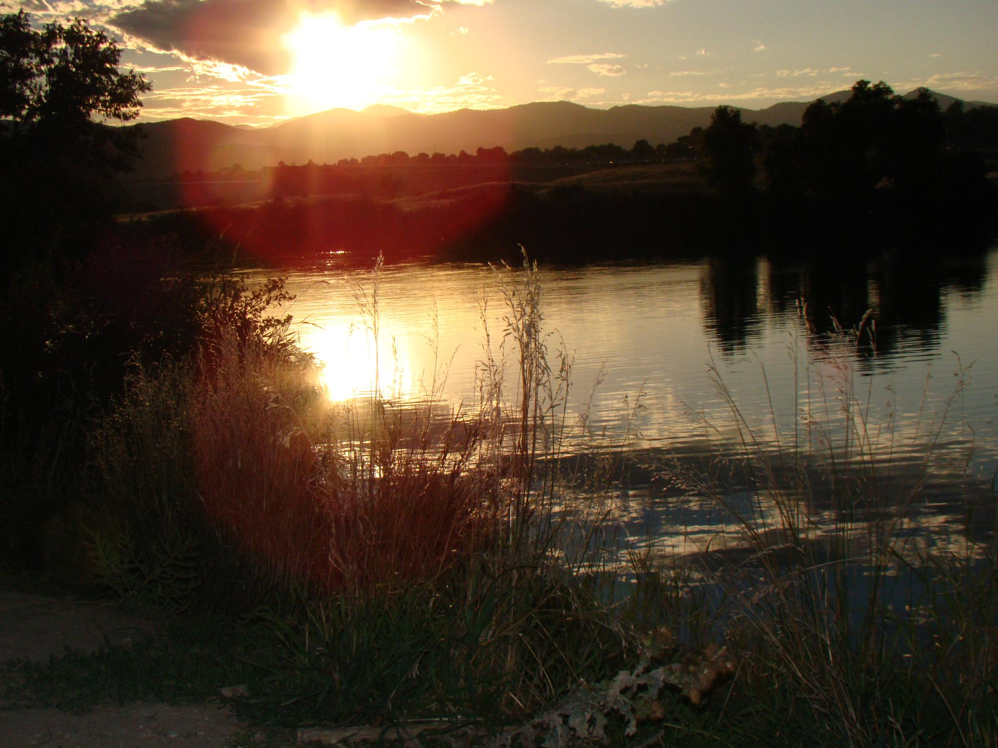 Sunset over Chatfield by Catherine Carver