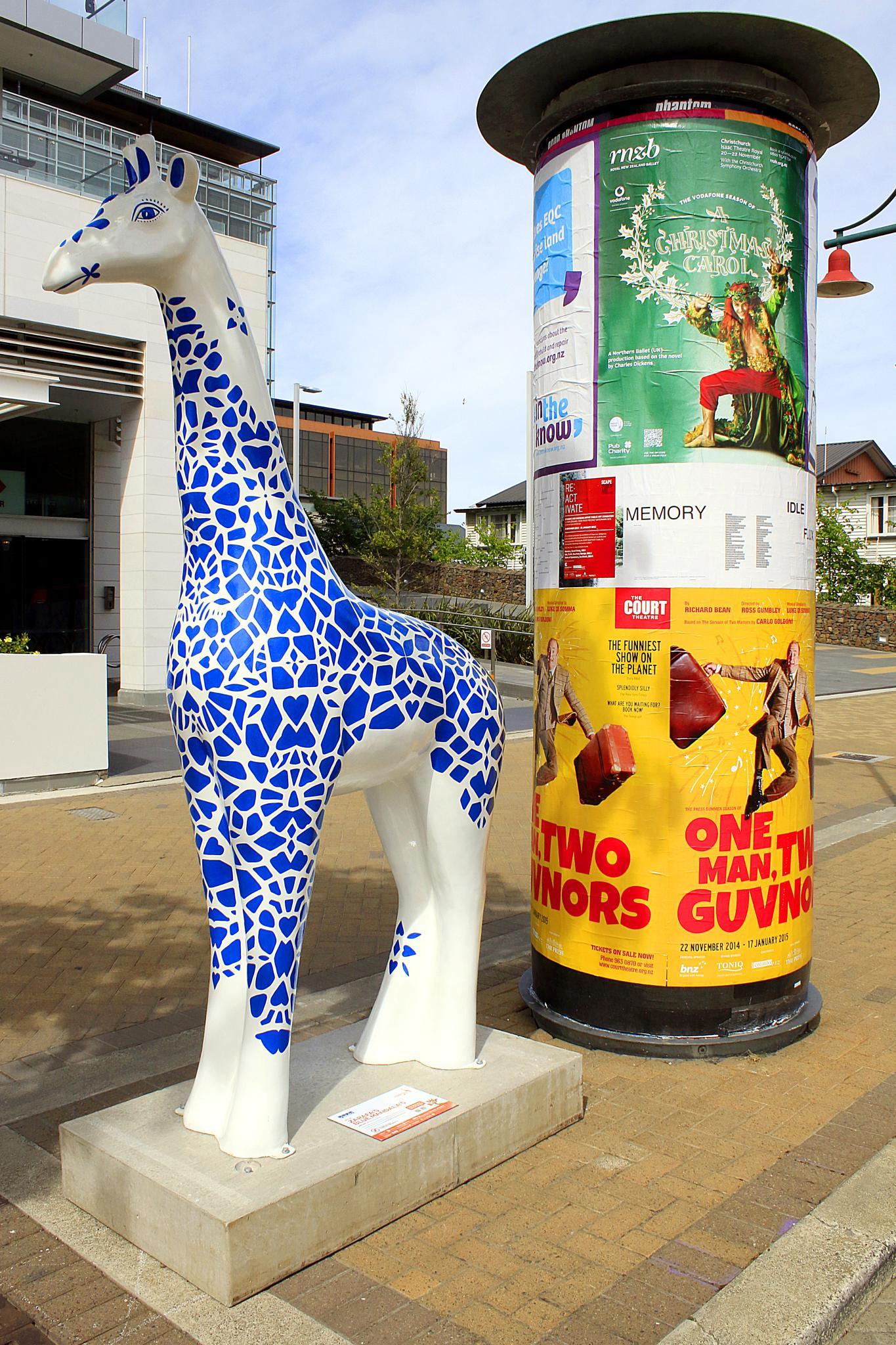 Christchurch Stands Tall Giraffe Sculptures (10) by Phil Le Cren