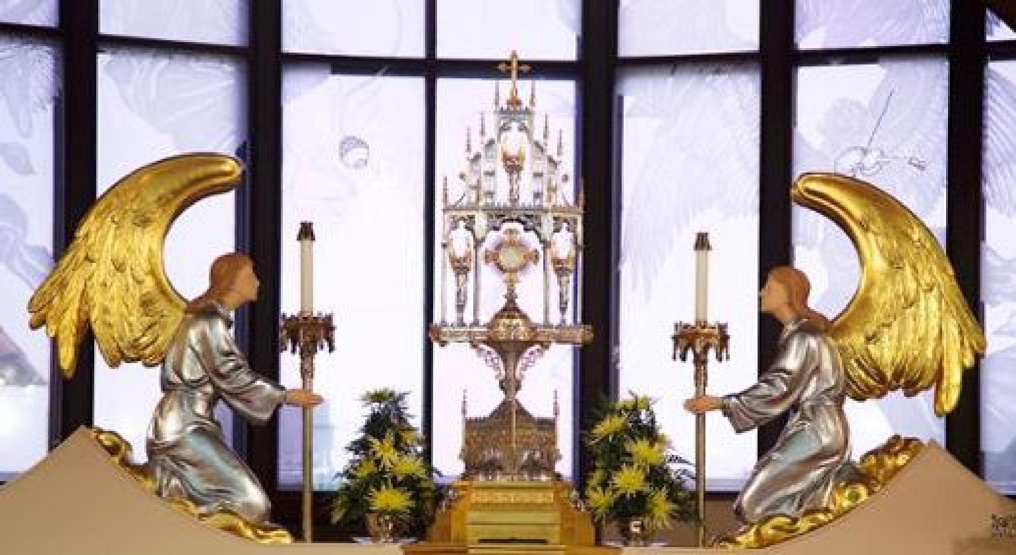 Adoration of the Holy Eucharist (1) by chamberlinangela