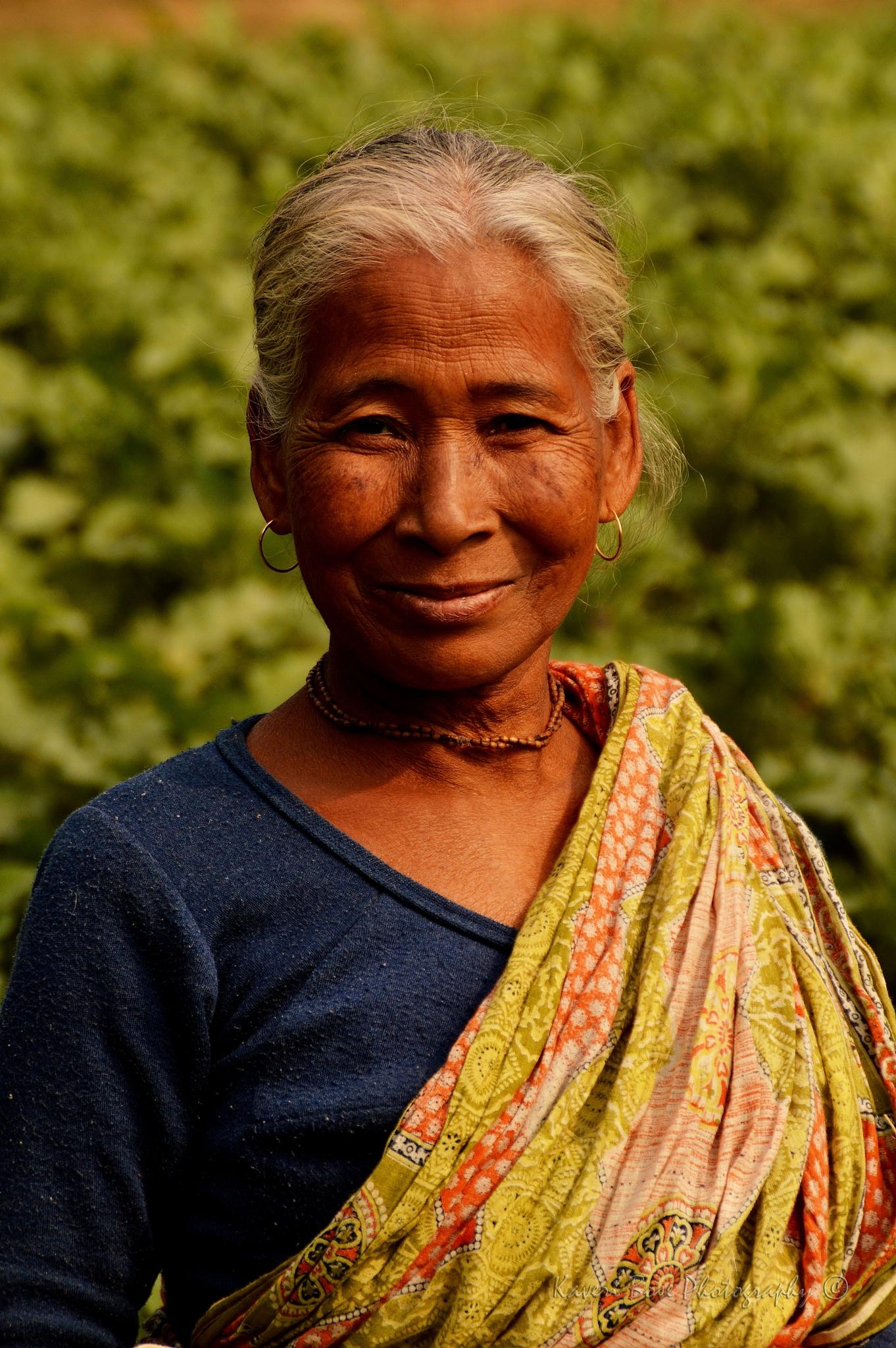 Portrait of an Old village farmer by Kaveri Bose
