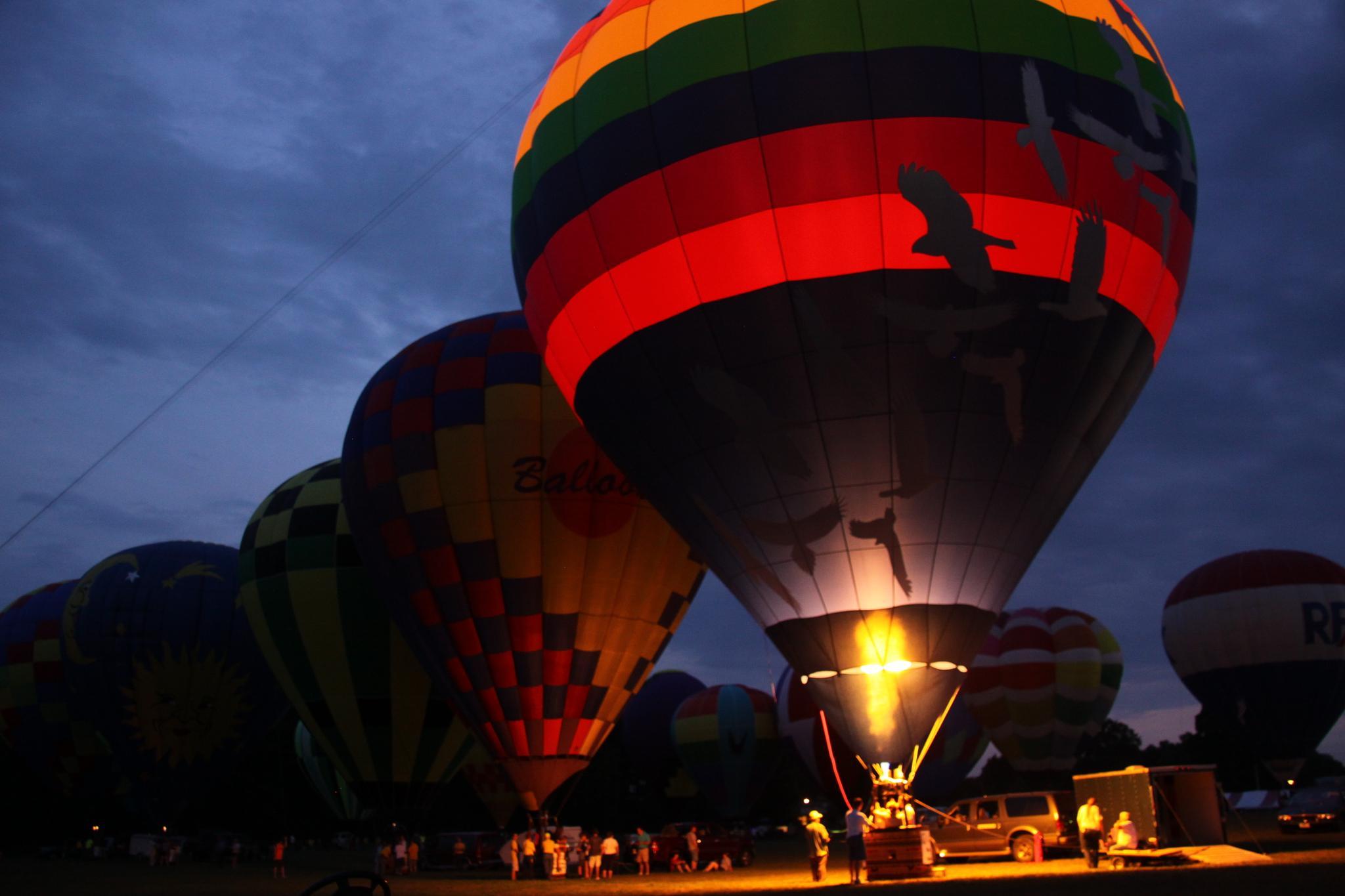 Balloon Glow at Dusk by Ryan W. Niemiec