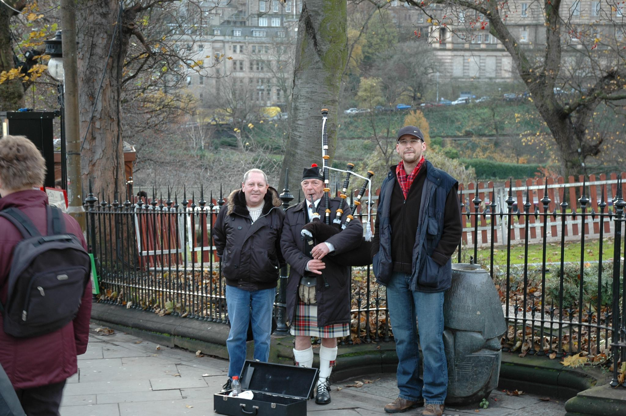 Saturday in Edinburgh would not be right without a Piper. by Owen C P Mc Farlane