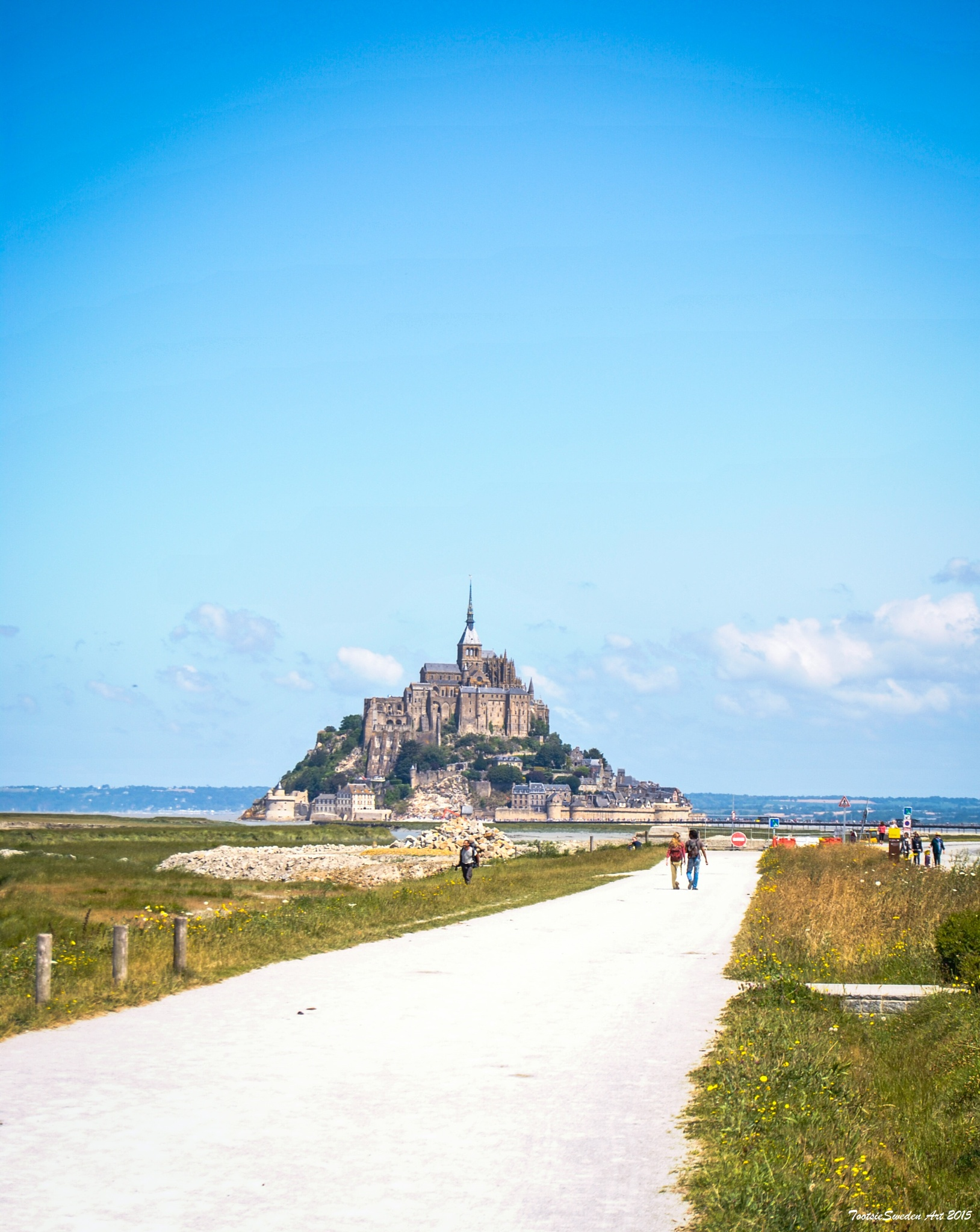 Mont Saint Michel from a far by TootsieSweden