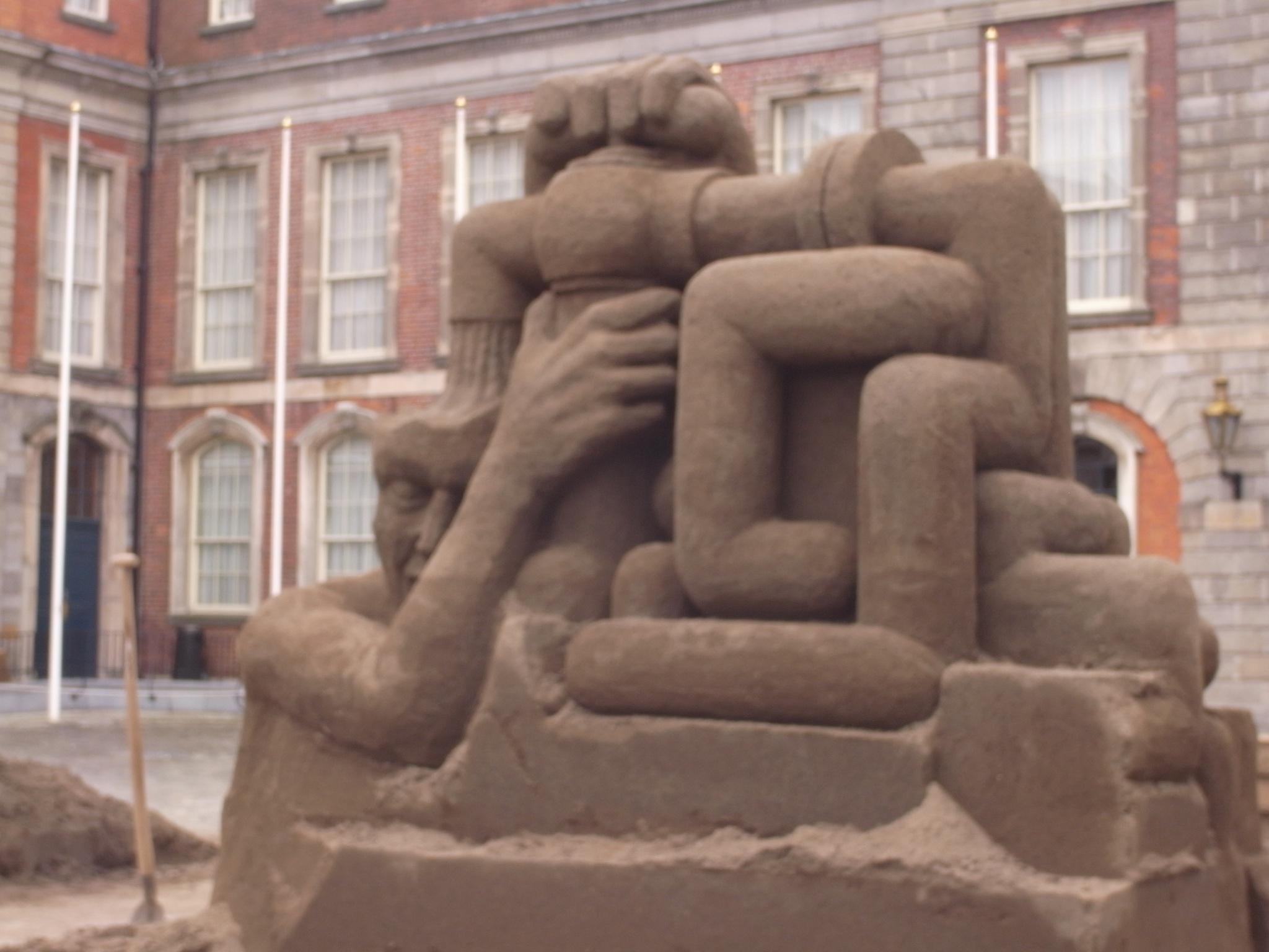 Escultura de arena. Castillo de Dublín. by carmina.waterstone