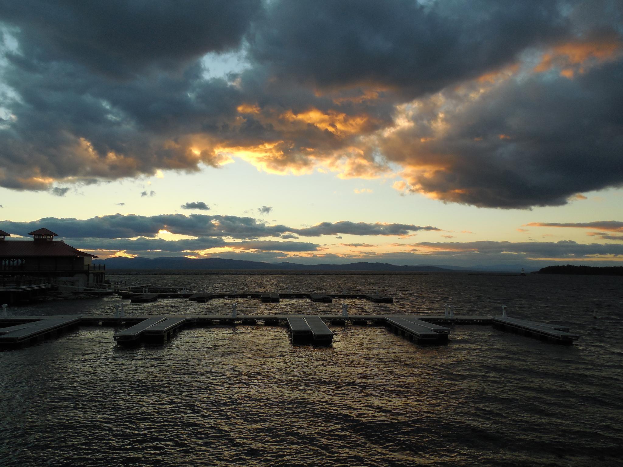 Sunset lake by Steve
