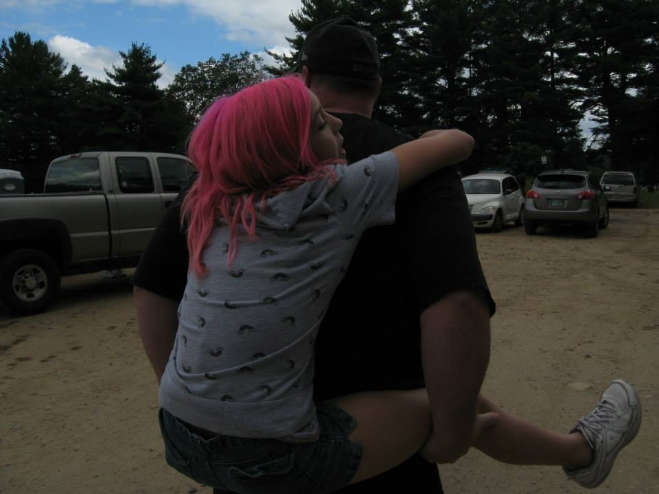 Piggy backs and pink hair! by MarciaRobertsMikels