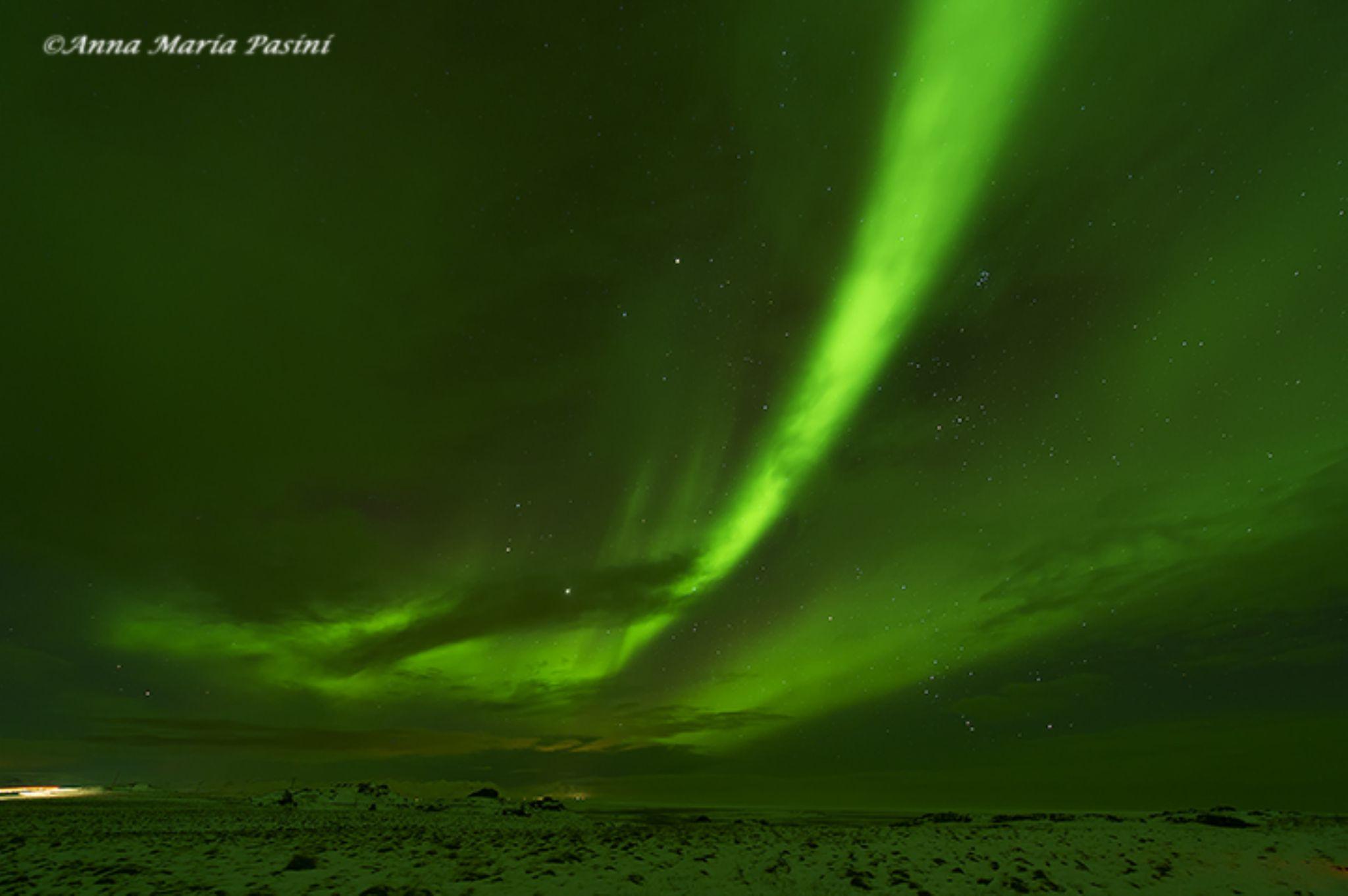 Aurora boreale by annamariapasini