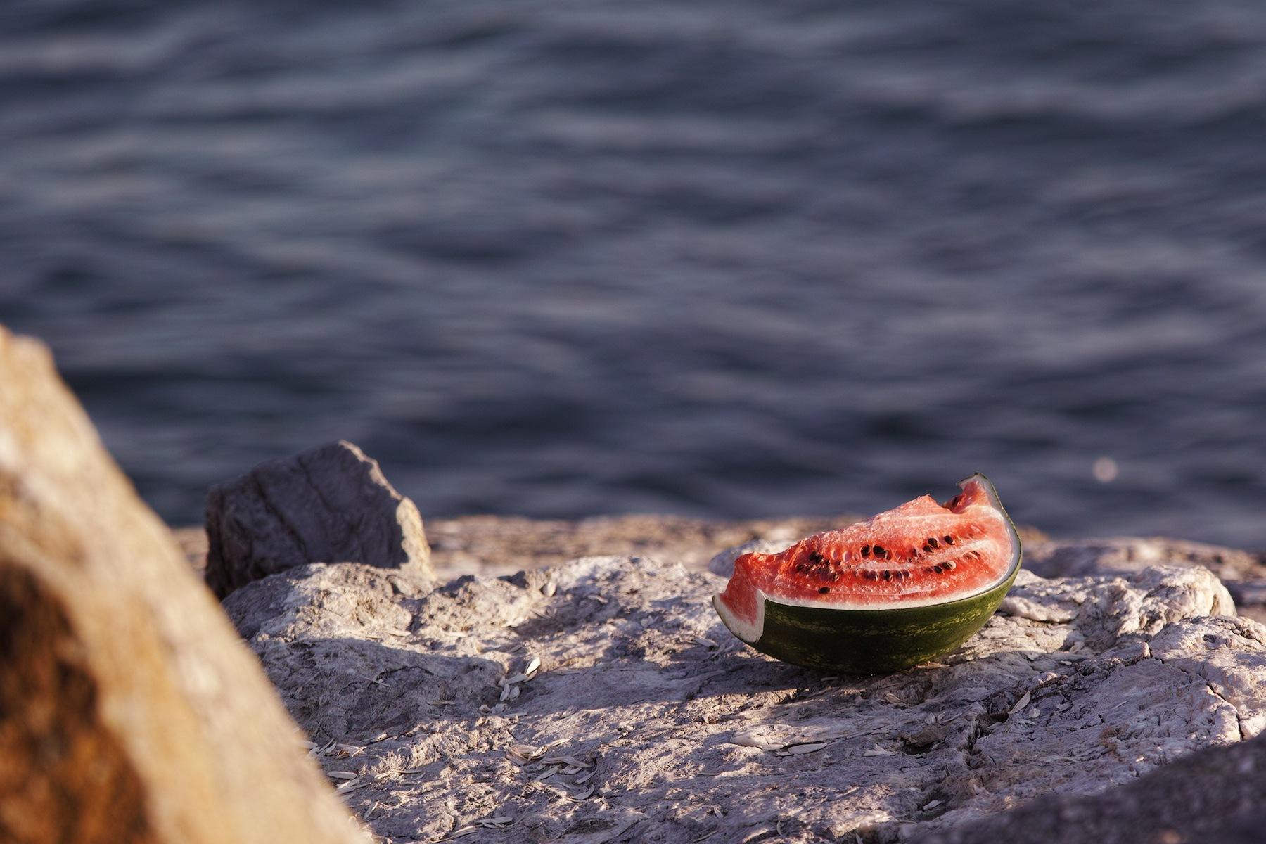 Watermelon, sunbathing by Osman Tümay