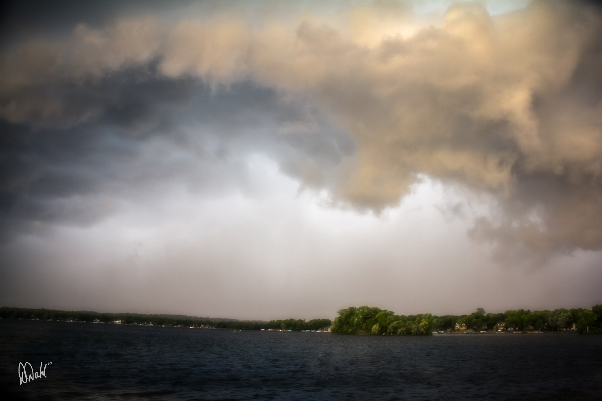 Photo in Random #clouds #water #lake #sunset #storm