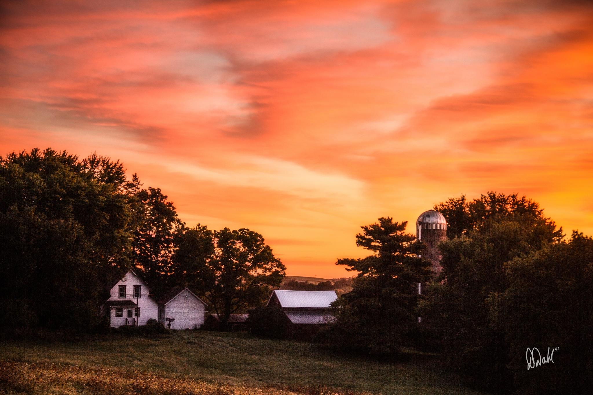 Watercolor Skies by dianedoneit
