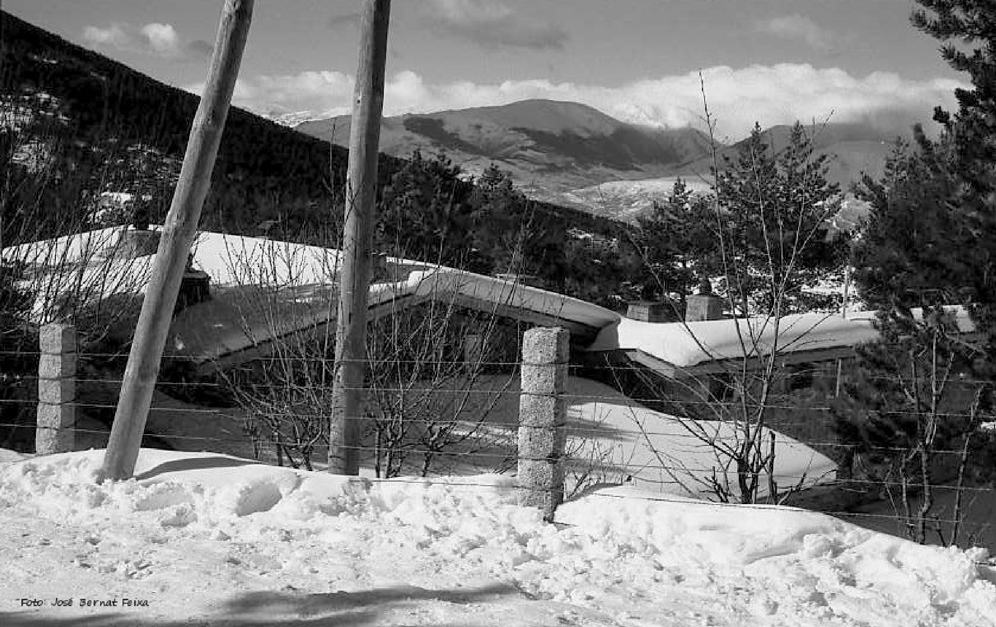 PAISAJE NEVADO, SNEEUWLANDSCHAP, SNOWY LANDSCAPE (60's) by José Bernat Feixa