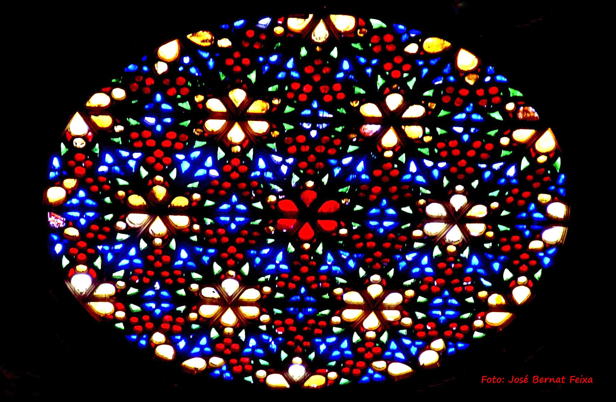 VITRAL, GLAS IN LOOD, STAINED GLASS, Mallorca (1973) by José Bernat Feixa