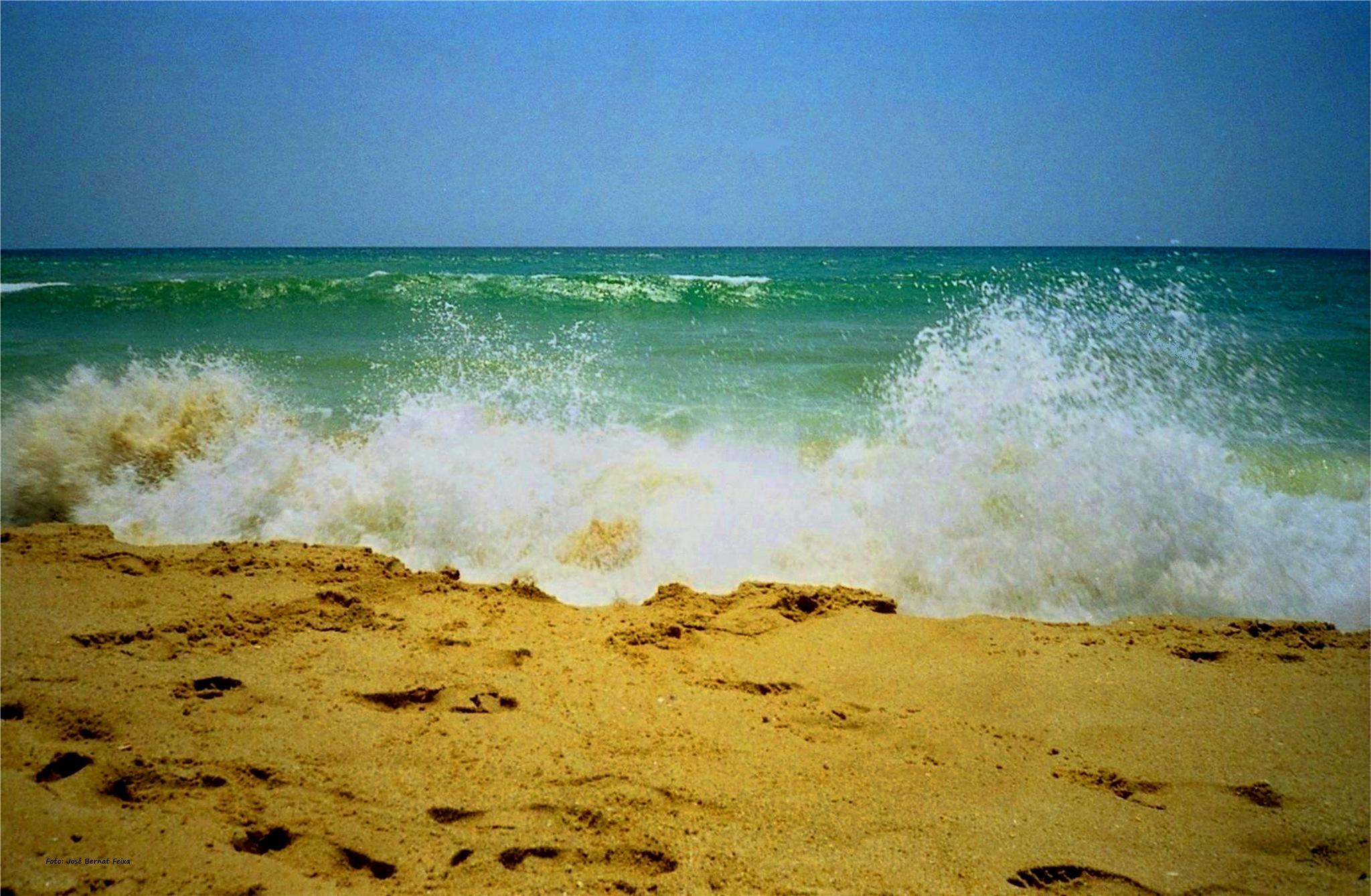 ARENA Y OLAS DEL MAR ; ZAND EN GOLVEN VAN DE ZEE ; SAND AND WAVES OF THE SEA by José Bernat Feixa