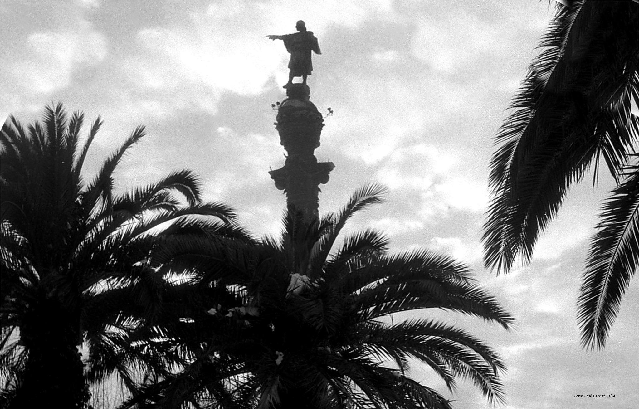 MONUMENTO A COLÓN; COLUMBUS MONUMENT, Barcelona (60's) by José Bernat Feixa