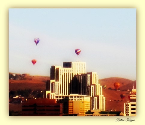Balloons over Reno, NV by kristine.kenyon