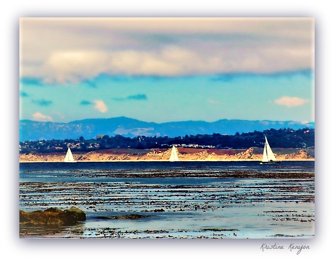 Three Sailboats by kristine.kenyon