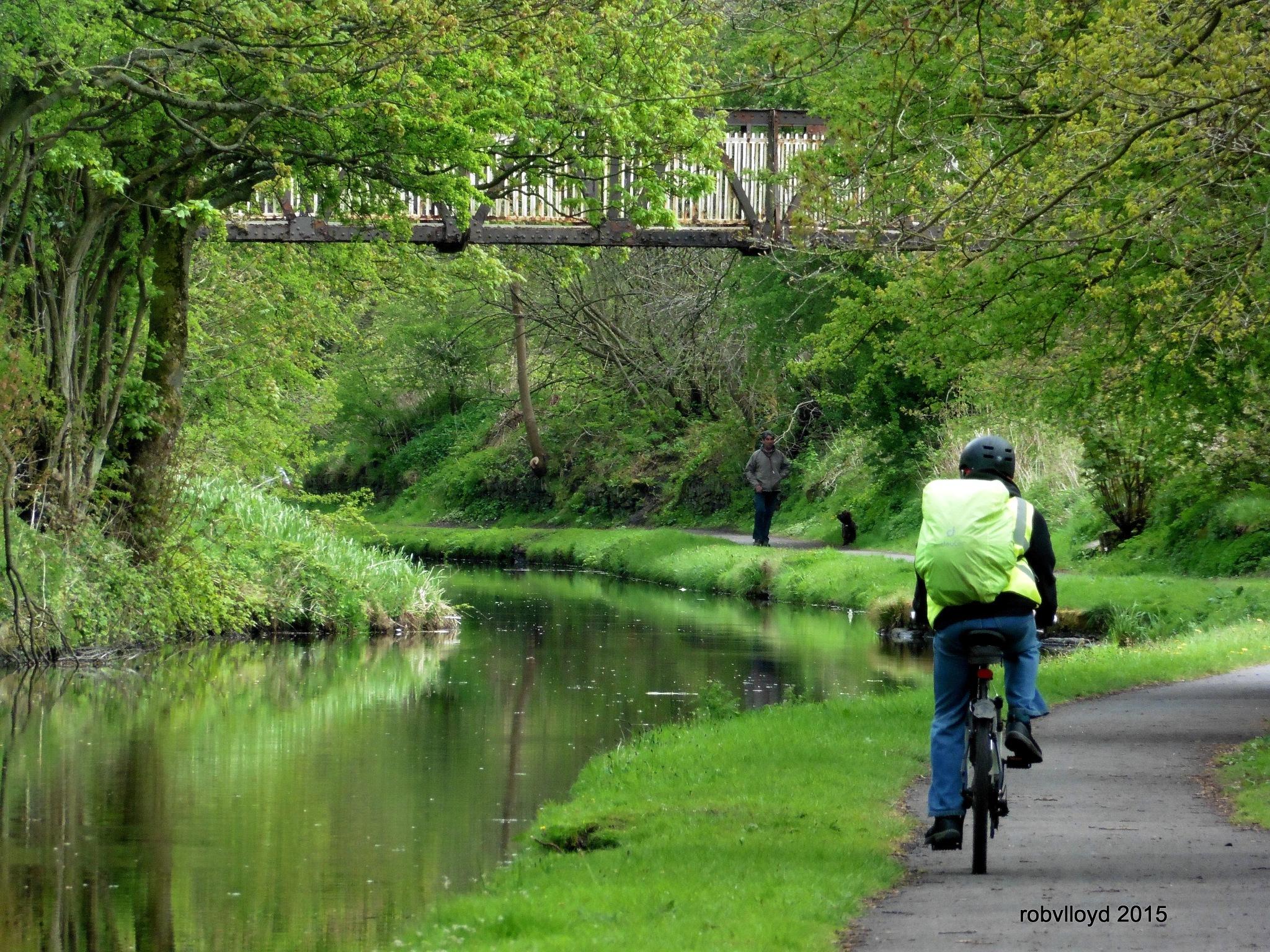 canal cyclist by rob.lloyd.3954