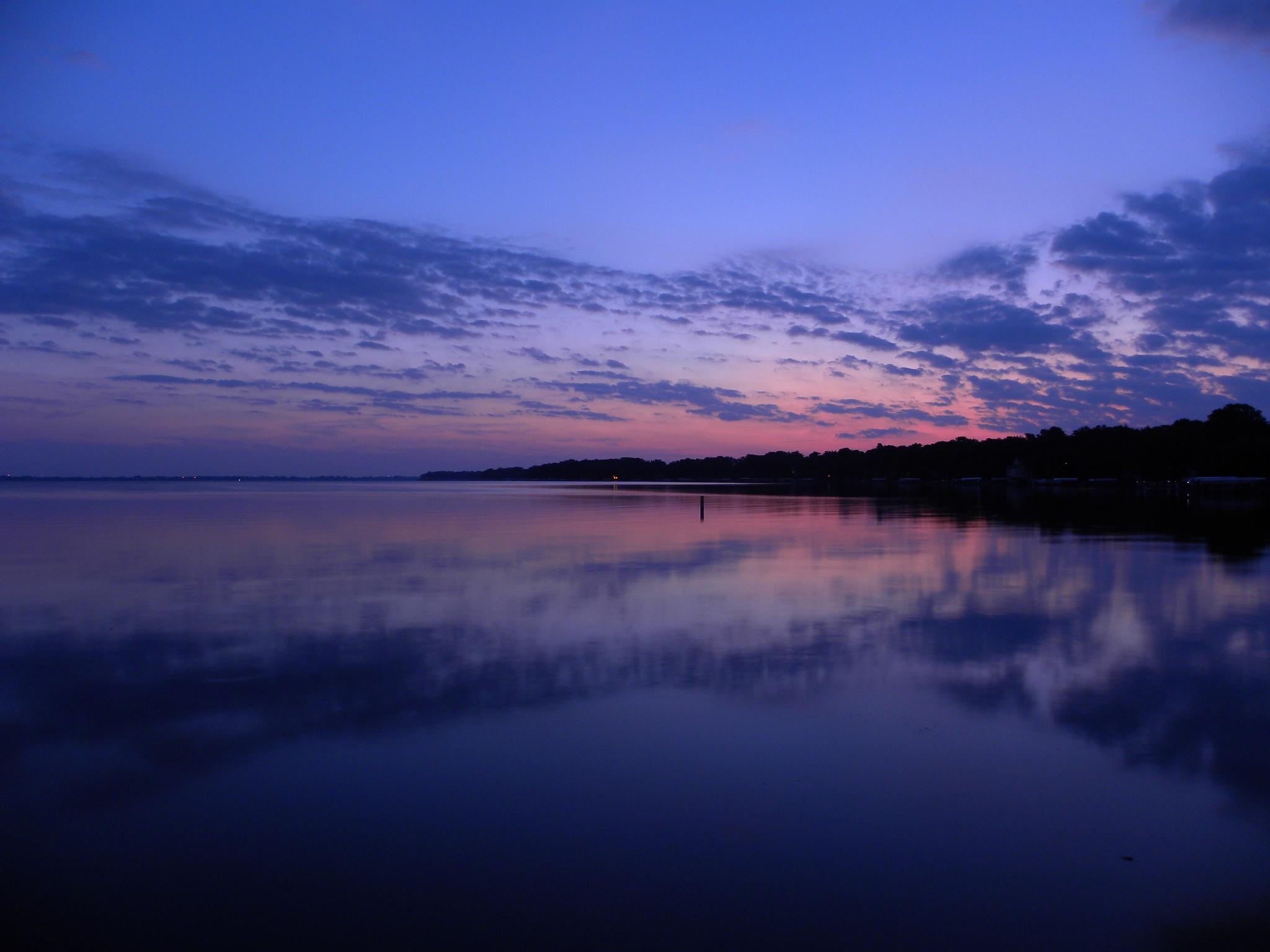Beautiful Sunrise on Big Spirit Lake in Iowa by Kimberly Ronan