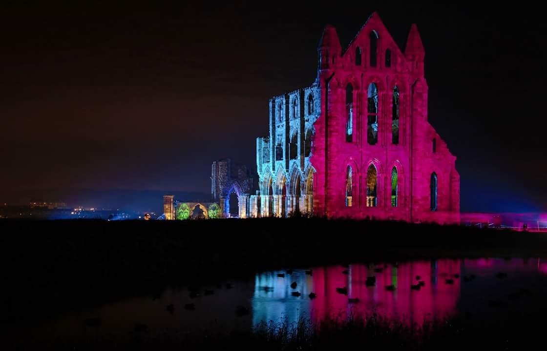 illuminated abbey  by jo