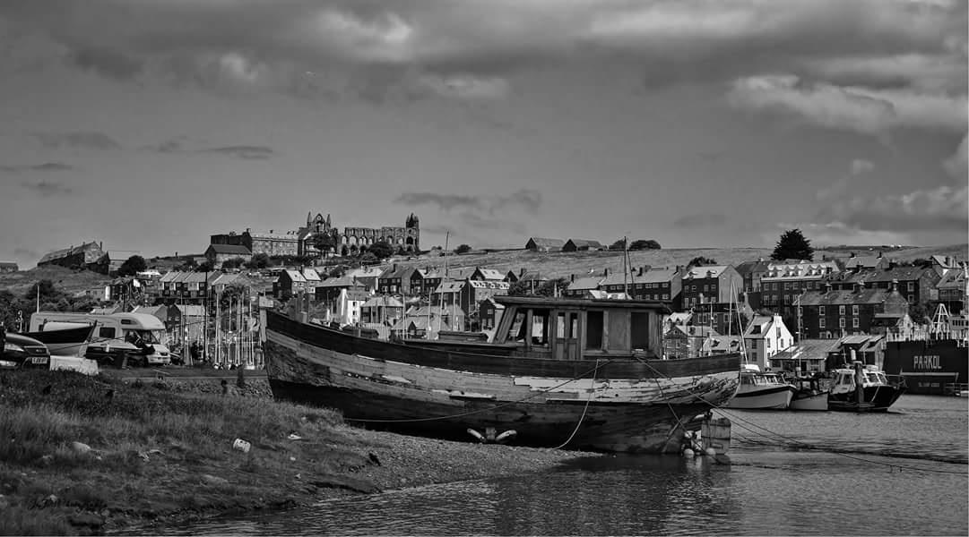 abandoned boat  by jo