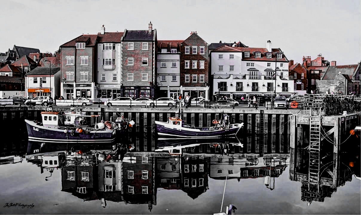 harbour reflections  by jo