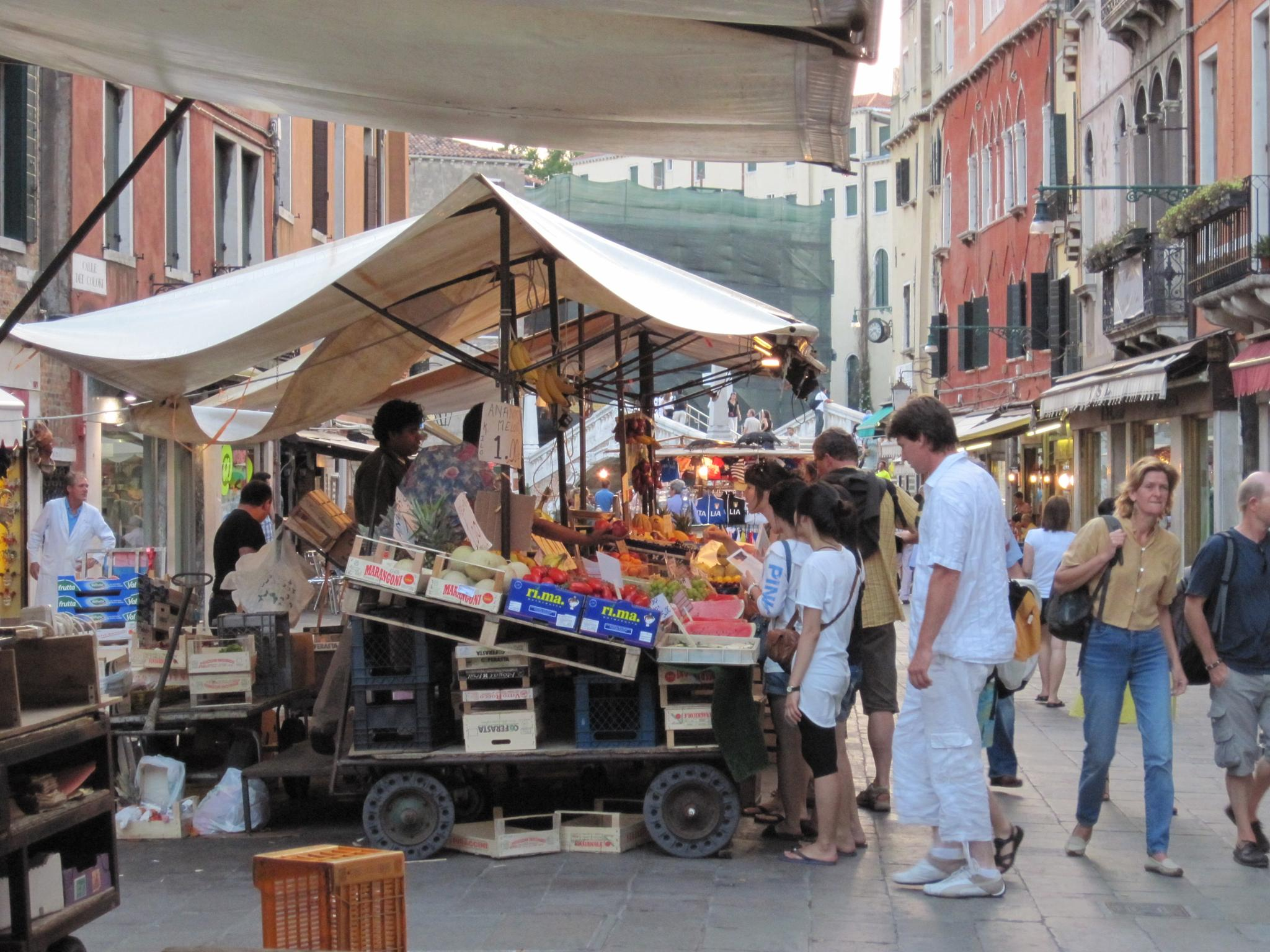 the Market in Venice by janet renee'