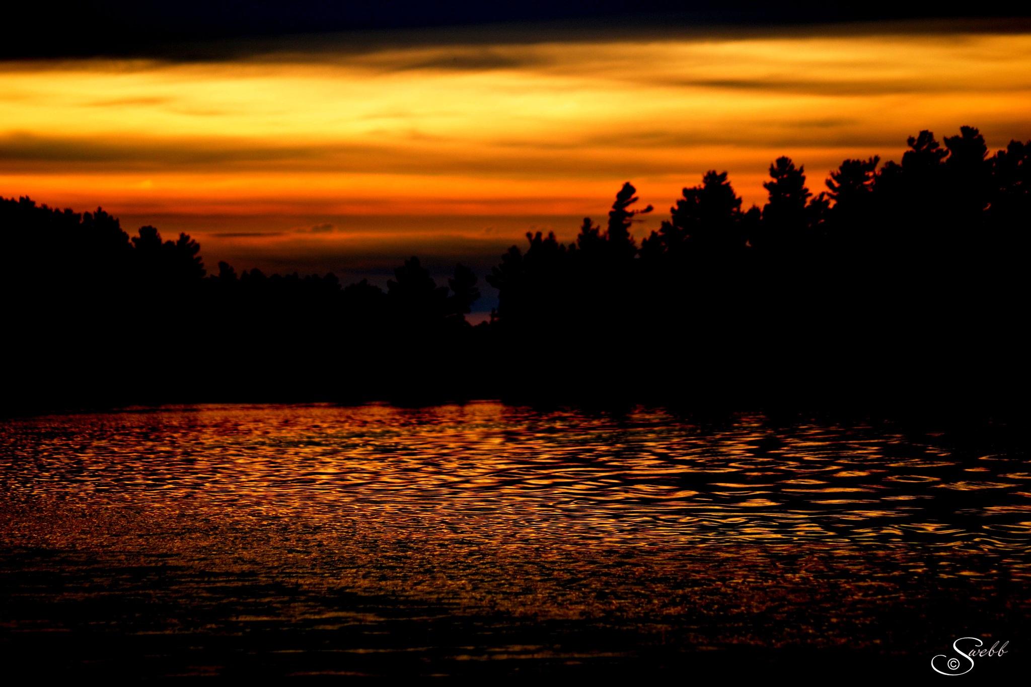 River Sunset by Steve Webb