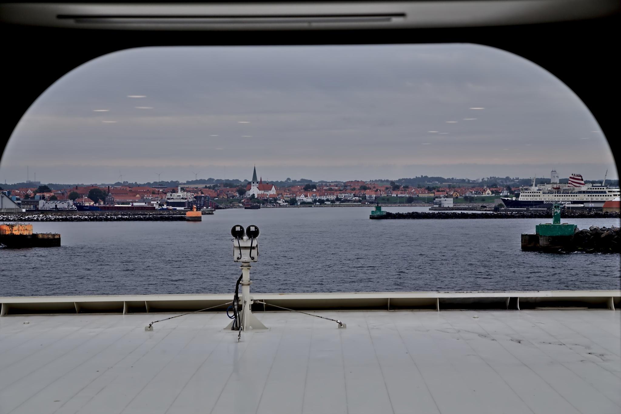 Ronne Port at Borholm by Anders Weinberg