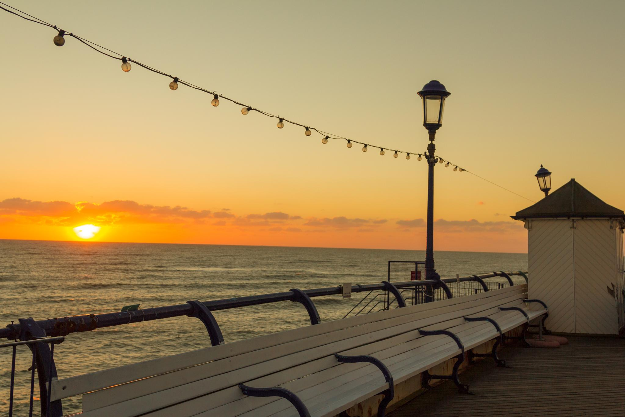 sunrise at eastbourne pier by eddie.powell.9809