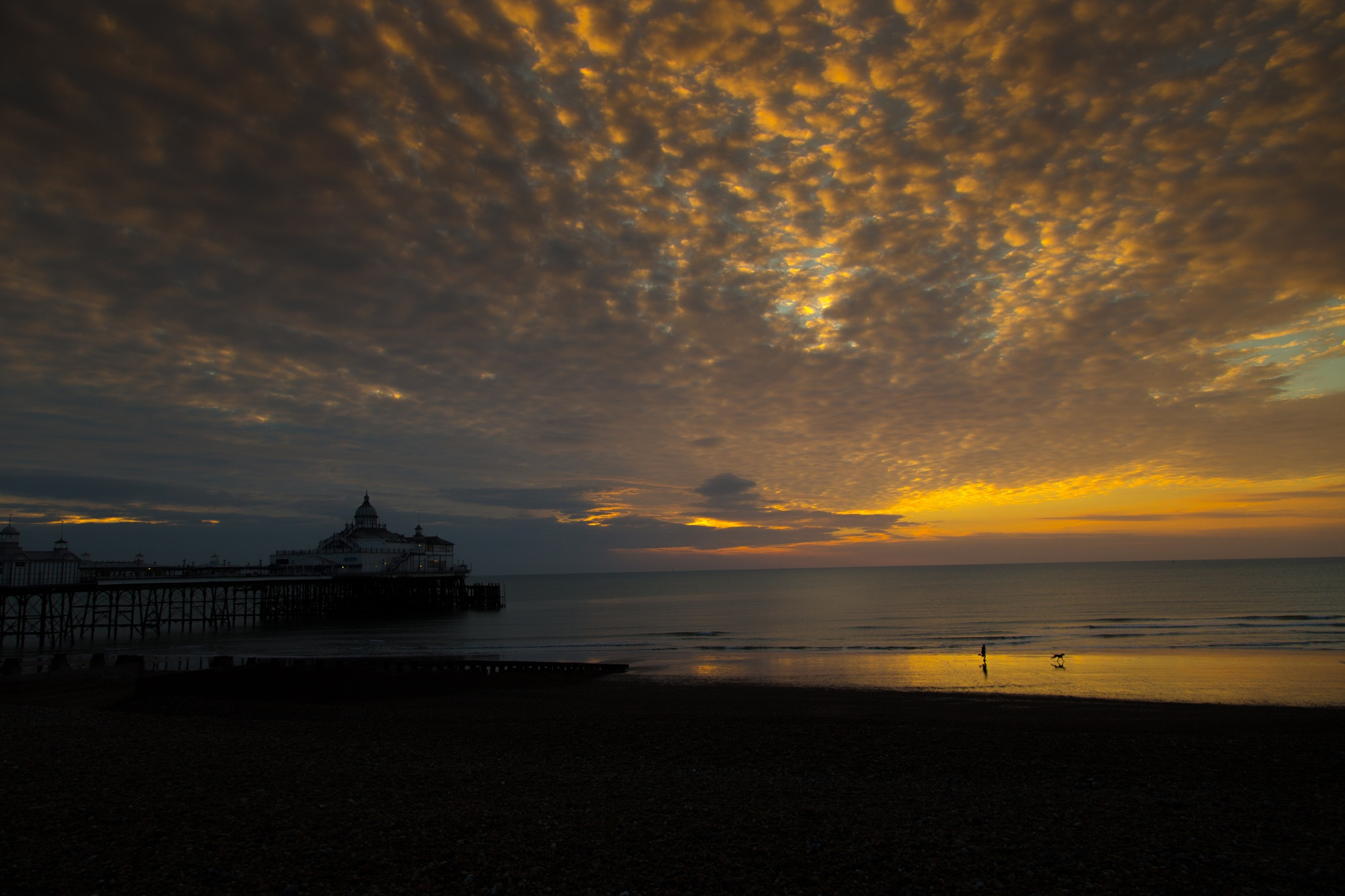 sunrise over eastbourne pier by eddie.powell.9809