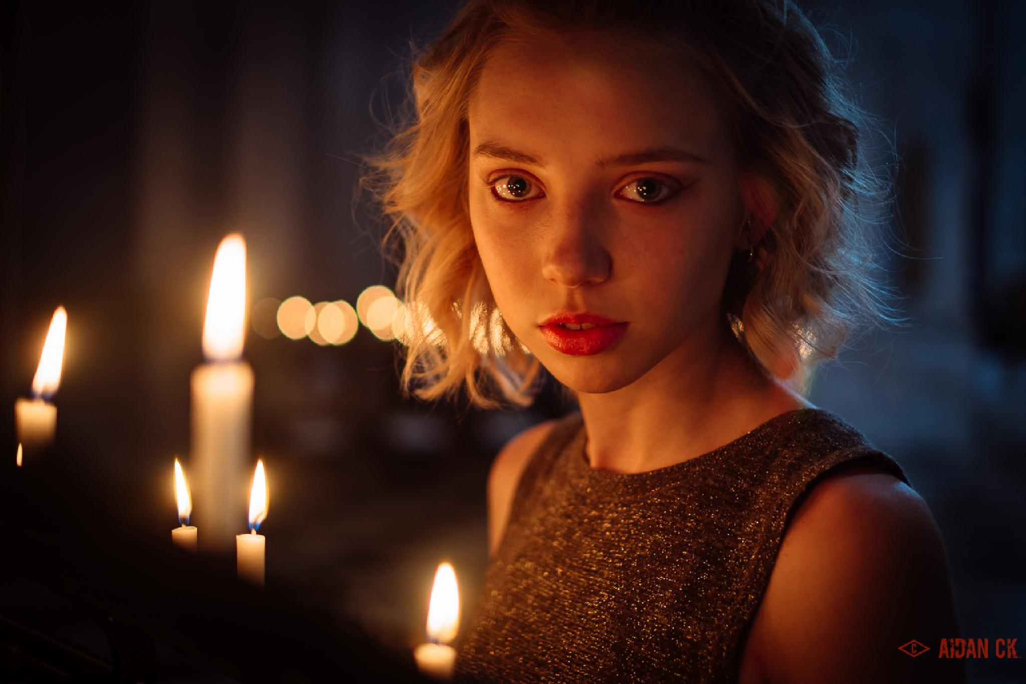 Portrait with candlelight by AidanCK