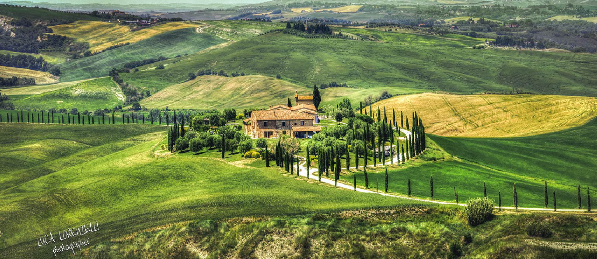 Tuscany hills - Crete Senesi - Italy by Luca Lorenzelli