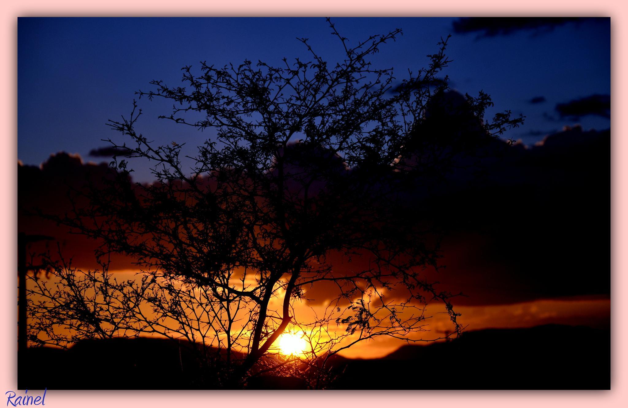 Por do Sol no oeste doRn by Rainel Dantas de Fontes