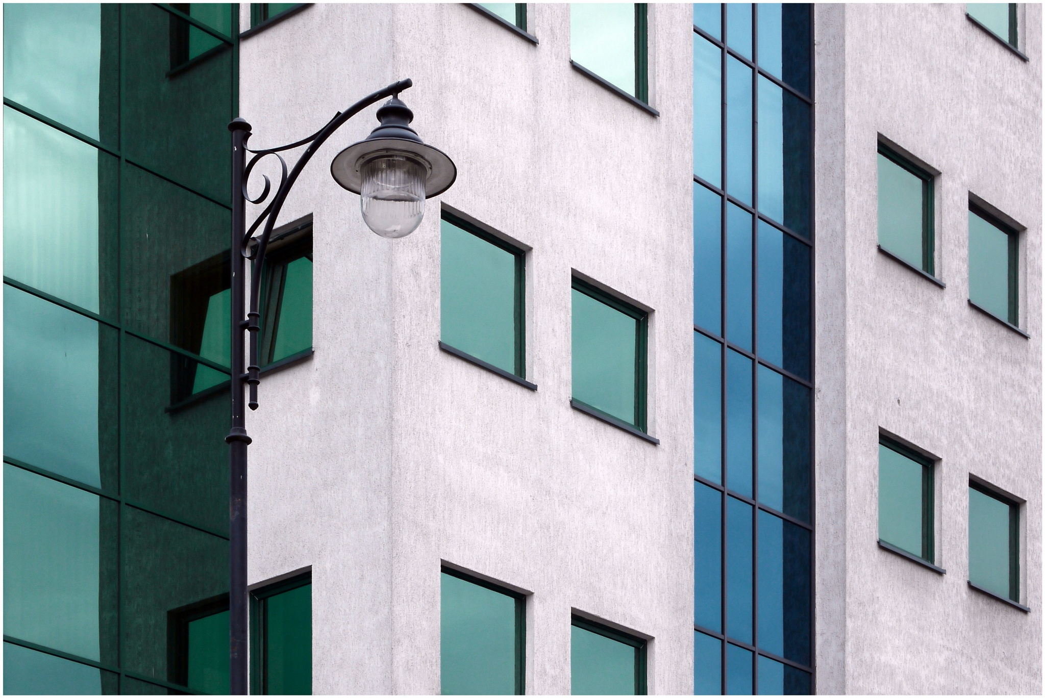 lamppost & windows in colours by ewa_no