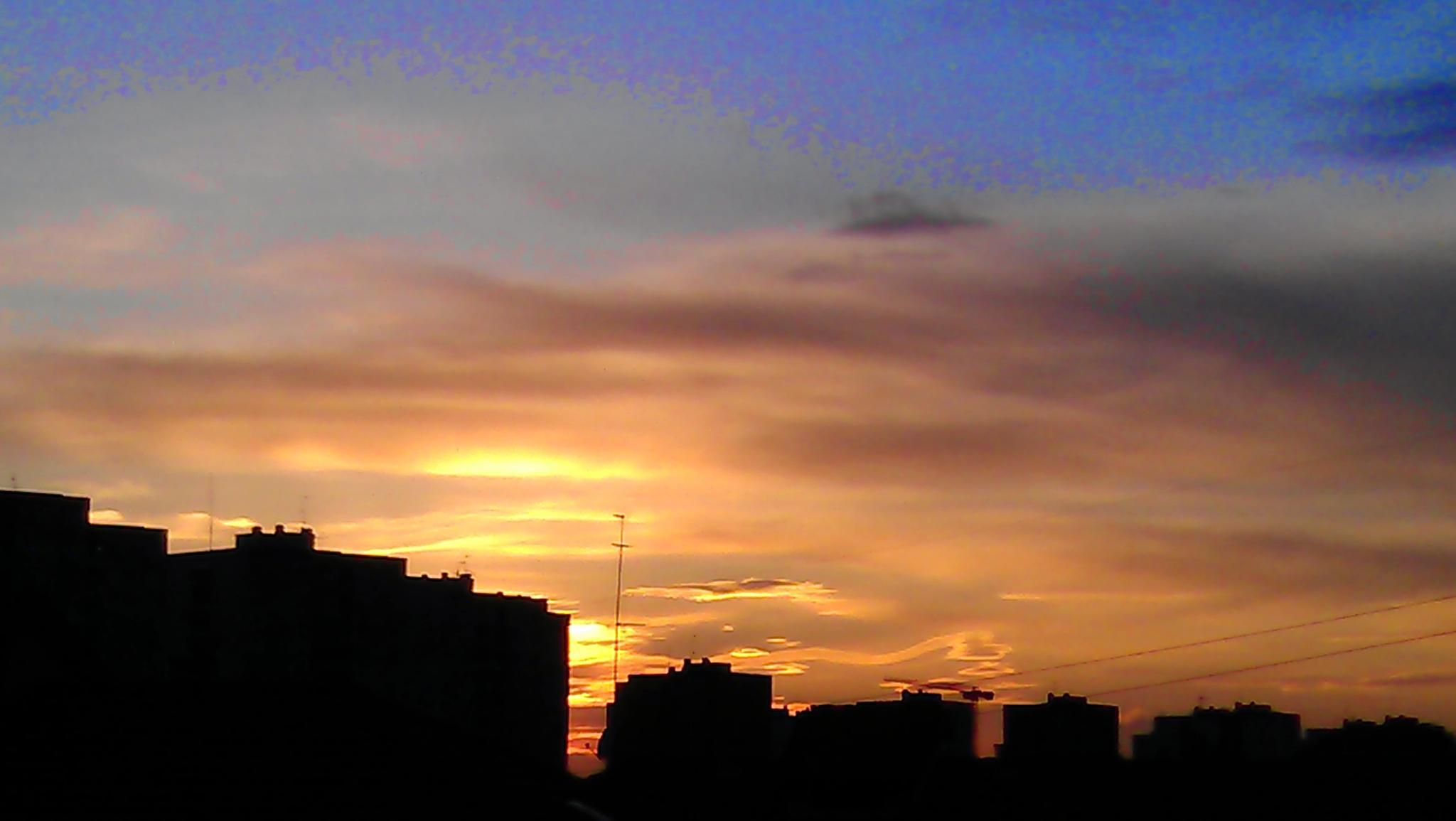Sunset in Milan. by Paolo Pasquali