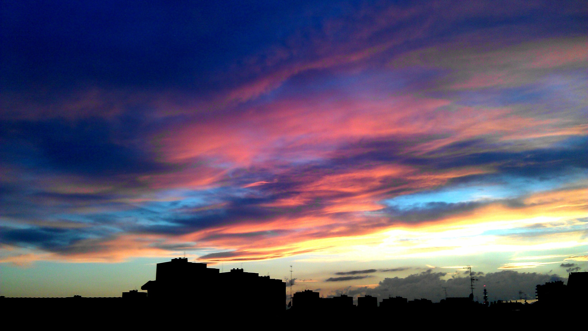A sunset in Milan by Paolo Pasquali