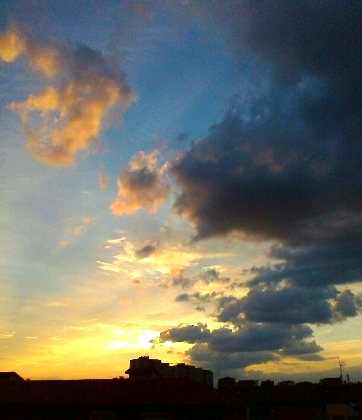 Sunset in Milan by Paolo Pasquali
