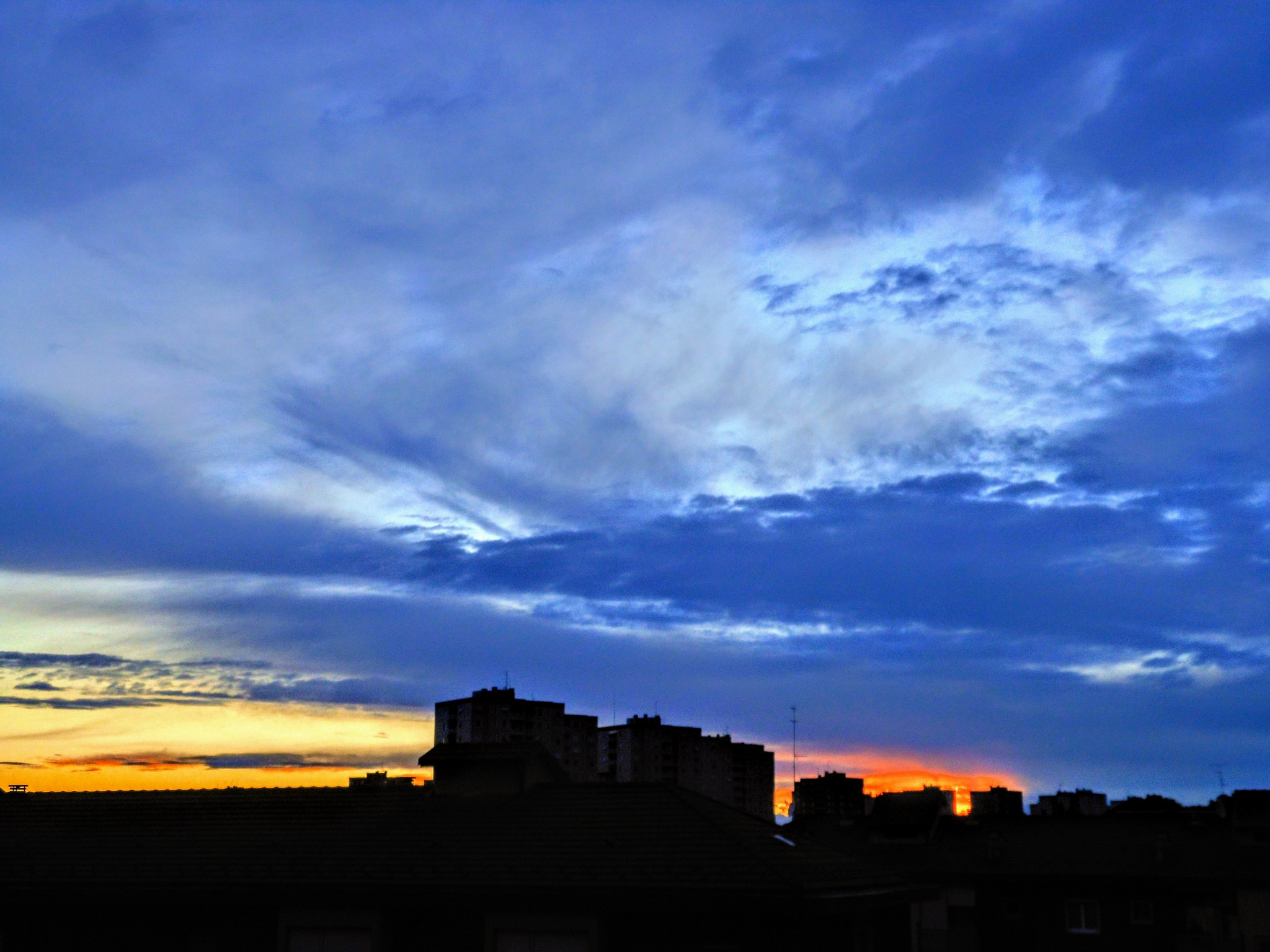 Evening sky in Milan by Paolo Pasquali