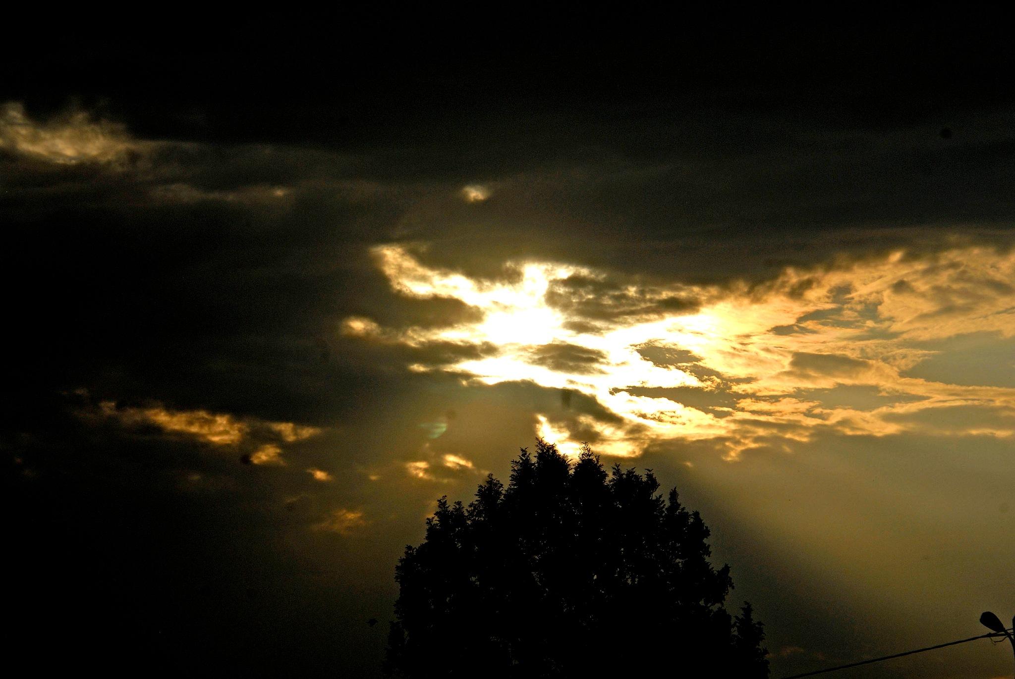 Autumn sky by edmund hirschfeld