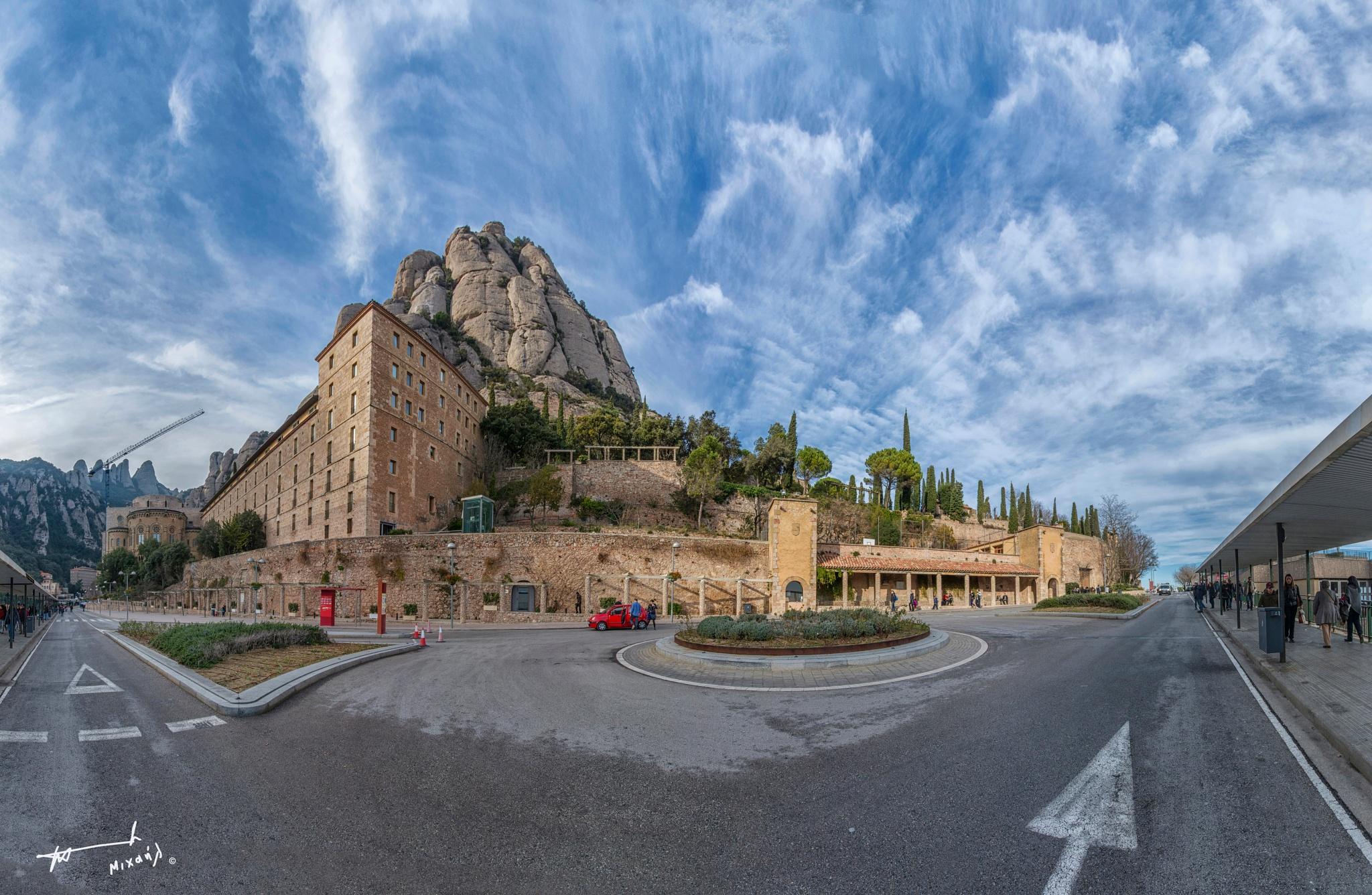 Santa Maria de Montserrat Abbey by Michail