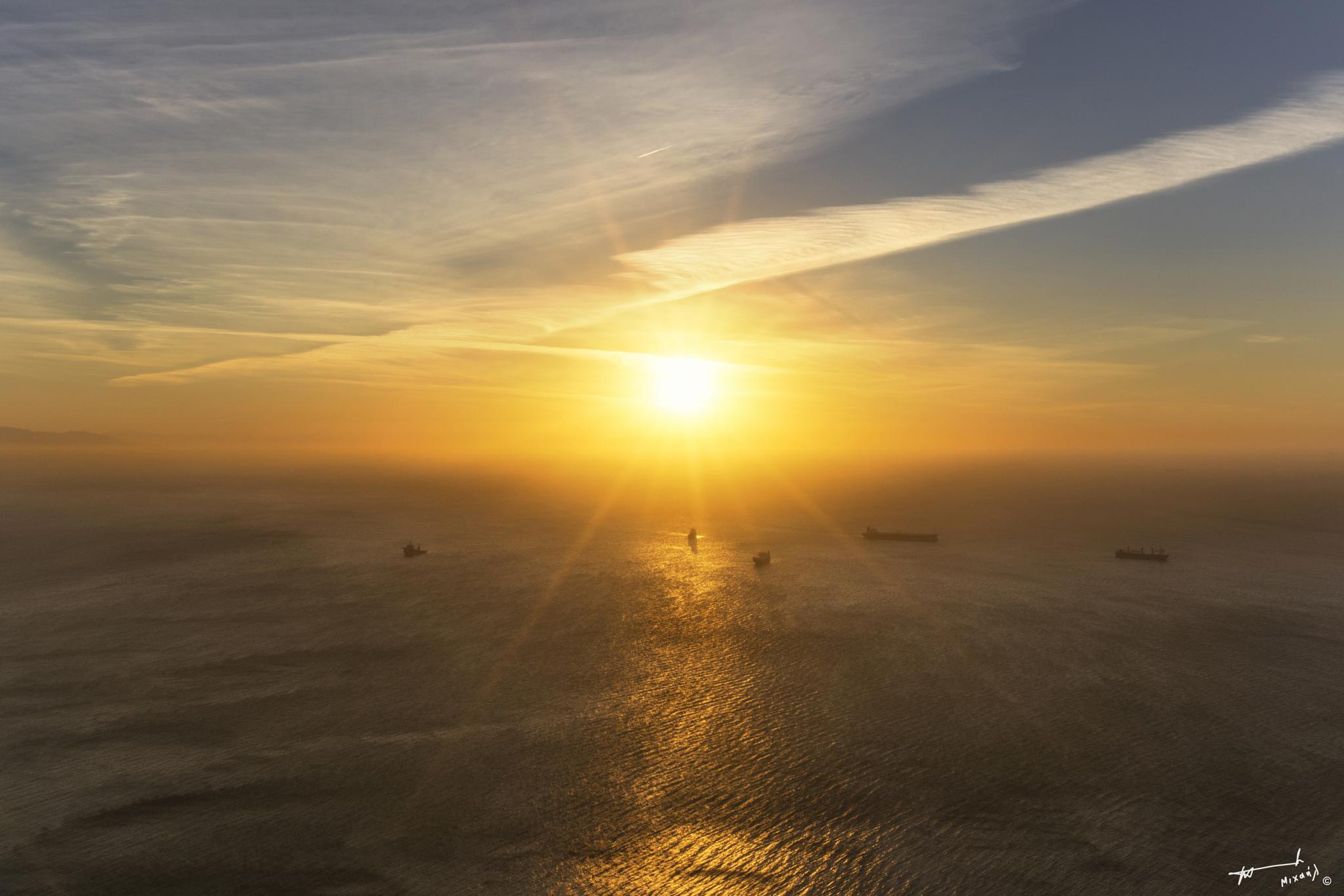 Gibraltar Sunrise !! by Michail