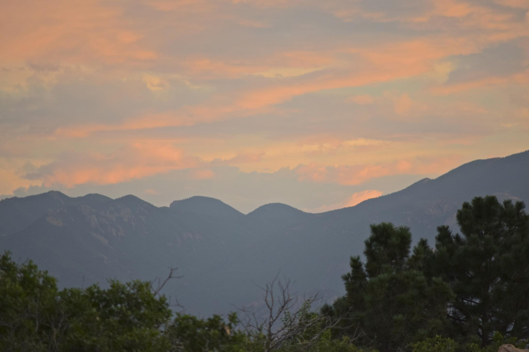 Photo in Travel #colorado #mountains #sunset #travel #dad